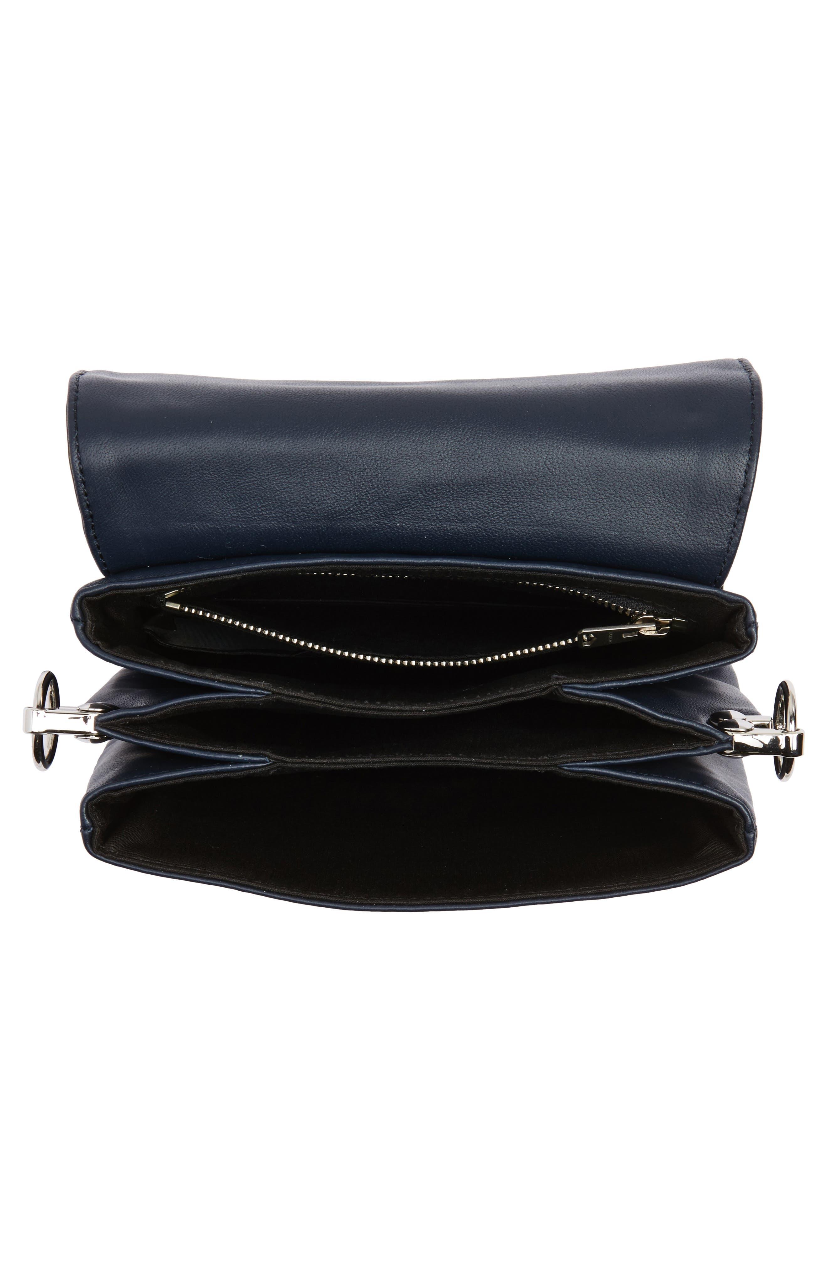 Zep Lambskin Leather Shoulder Bag,                             Alternate thumbnail 7, color,