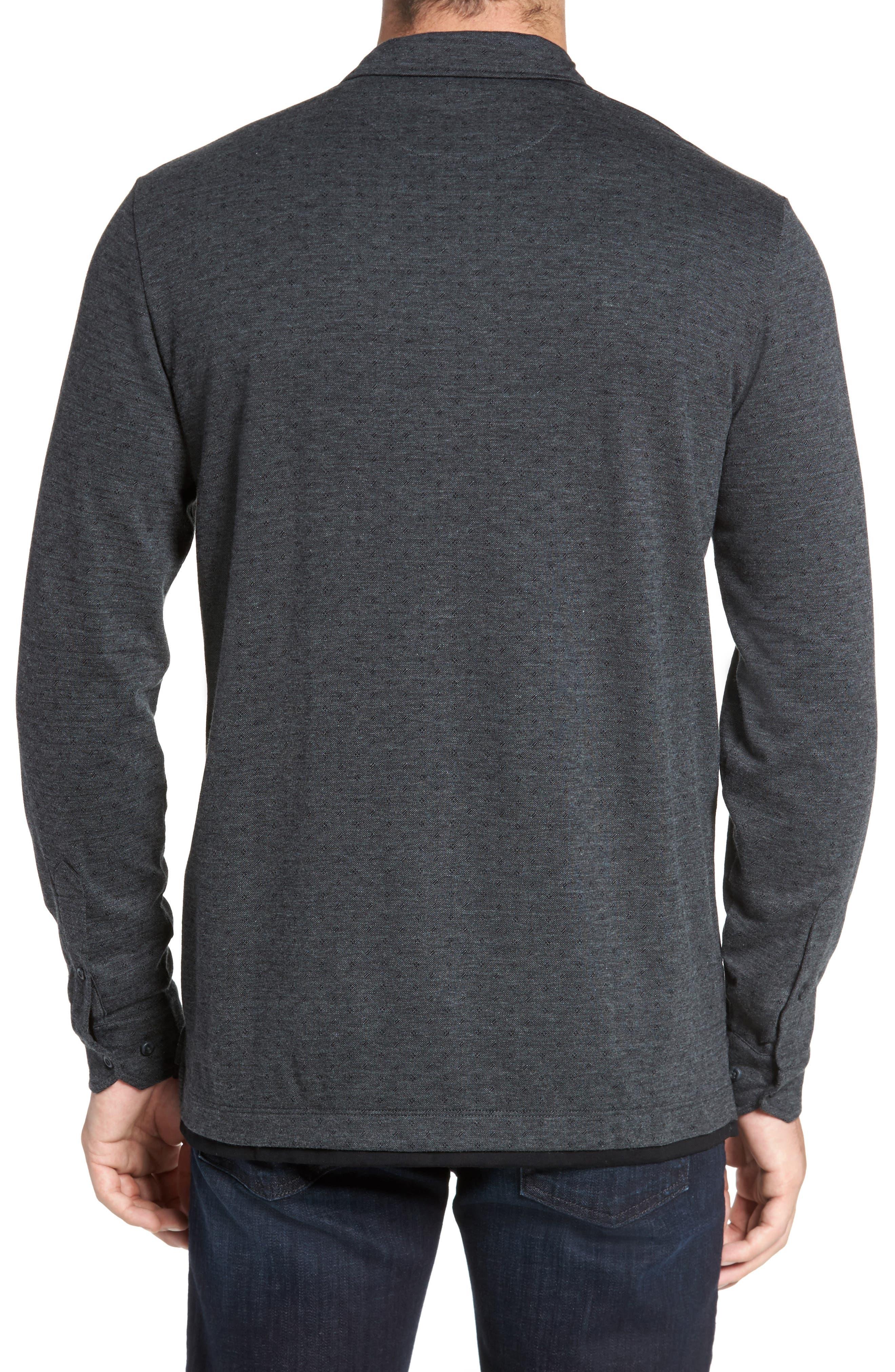 Jacquard Knit Sport Shirt,                             Alternate thumbnail 5, color,
