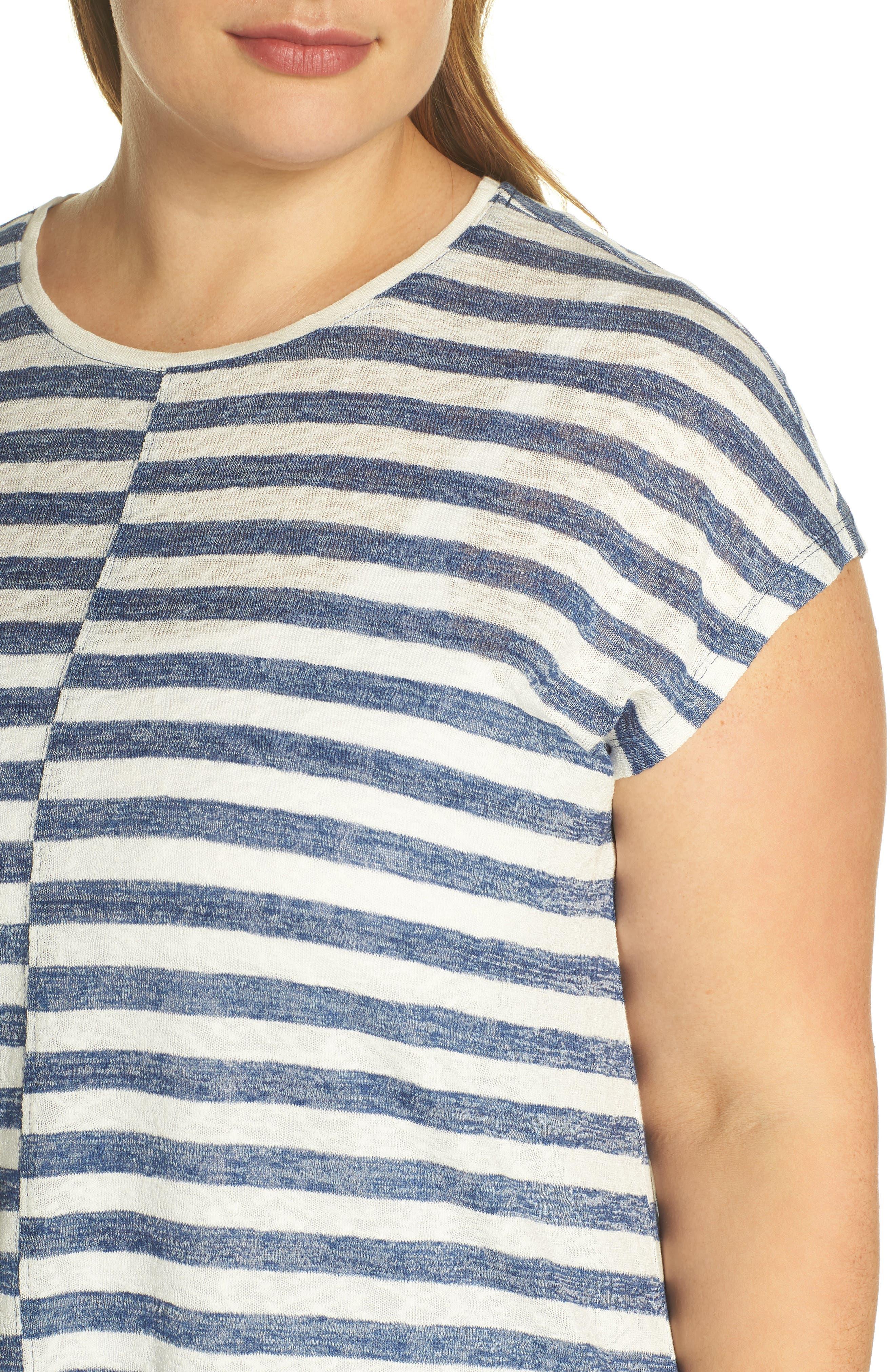 Offset Stripe Top,                             Alternate thumbnail 4, color,                             491