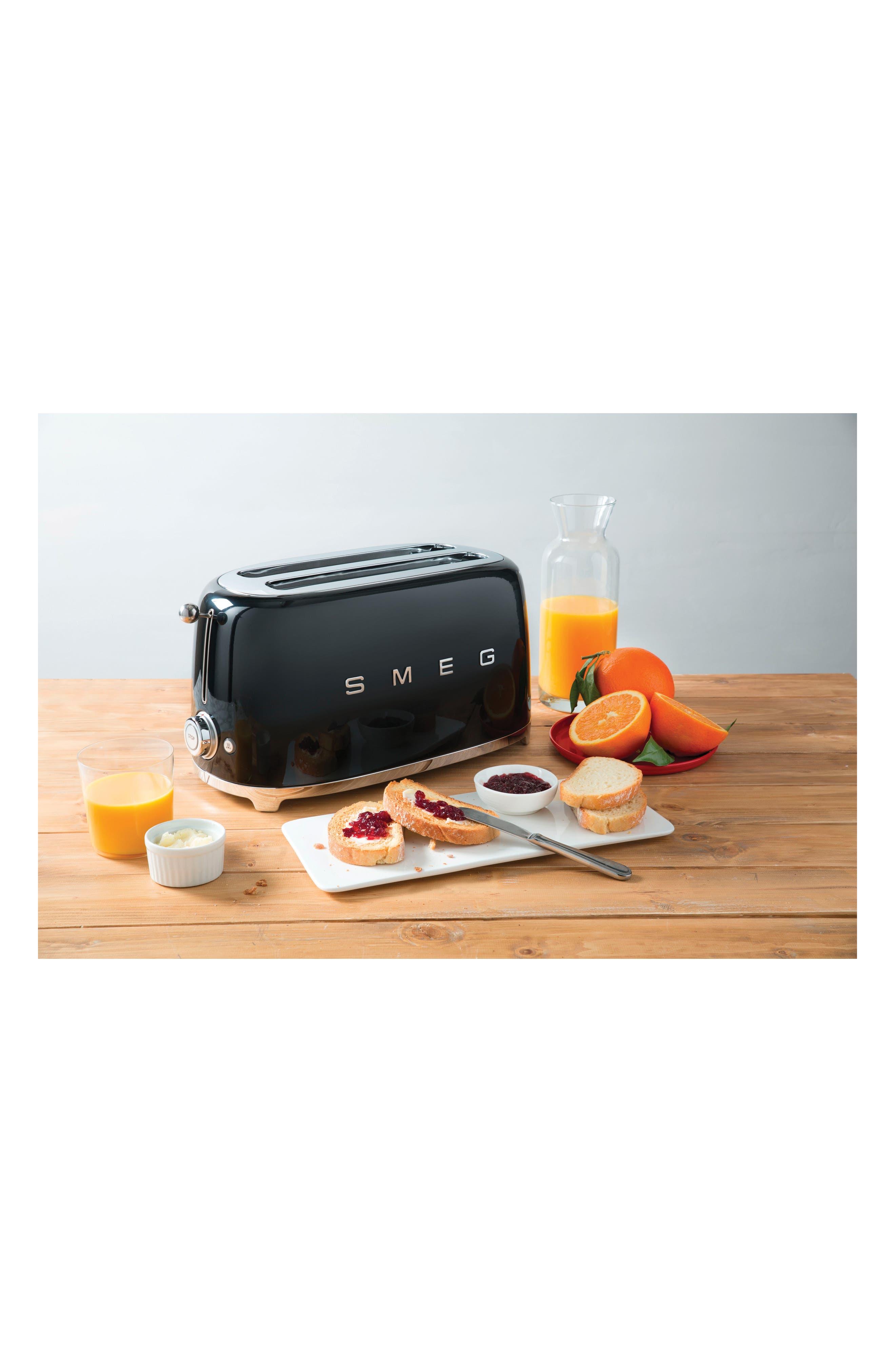 '50s Retro Style Four-Slice Toaster,                             Alternate thumbnail 3, color,                             BLACK