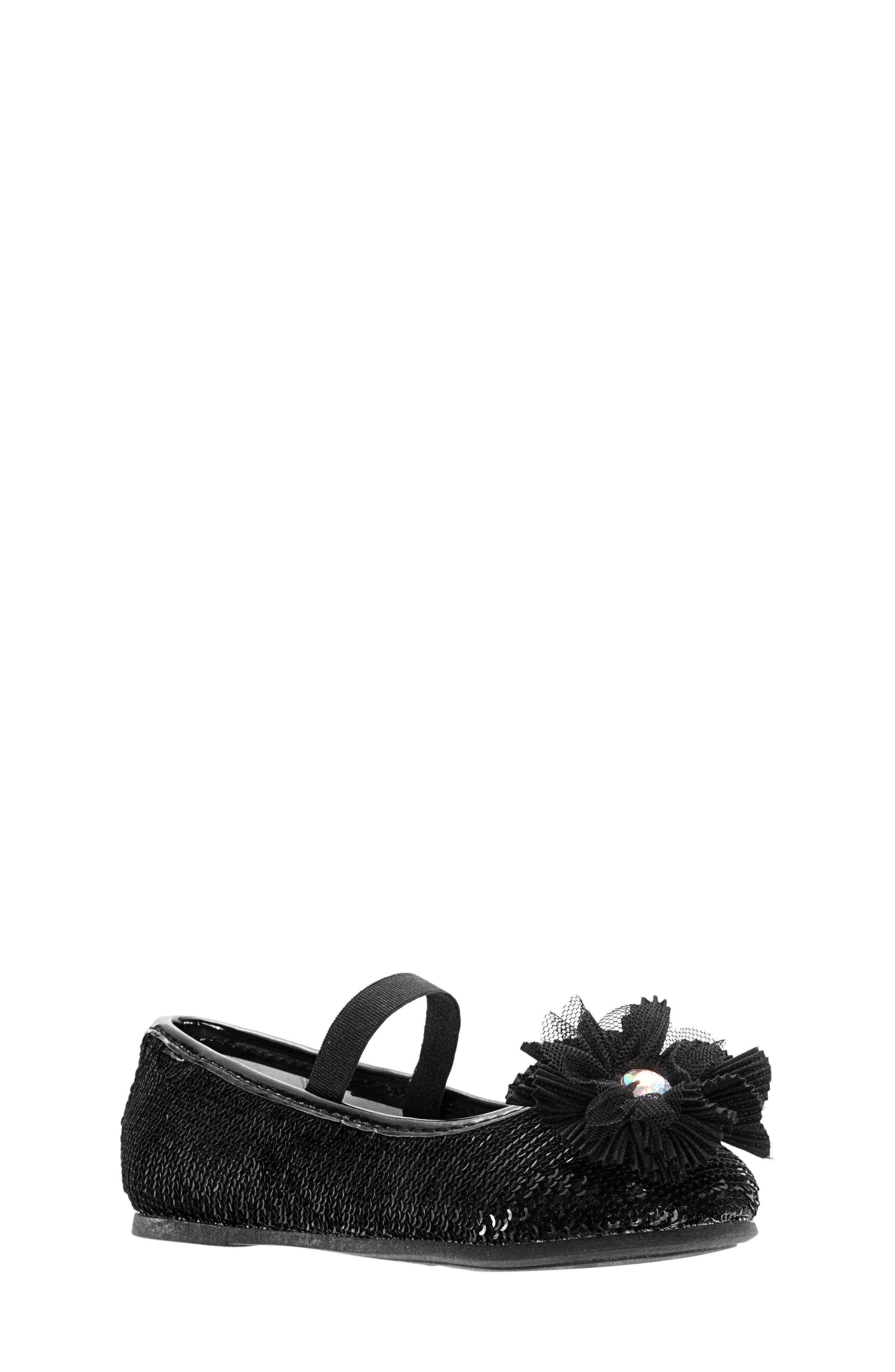 Sequin Ballet Flat,                         Main,                         color, BLACK SEQUINS