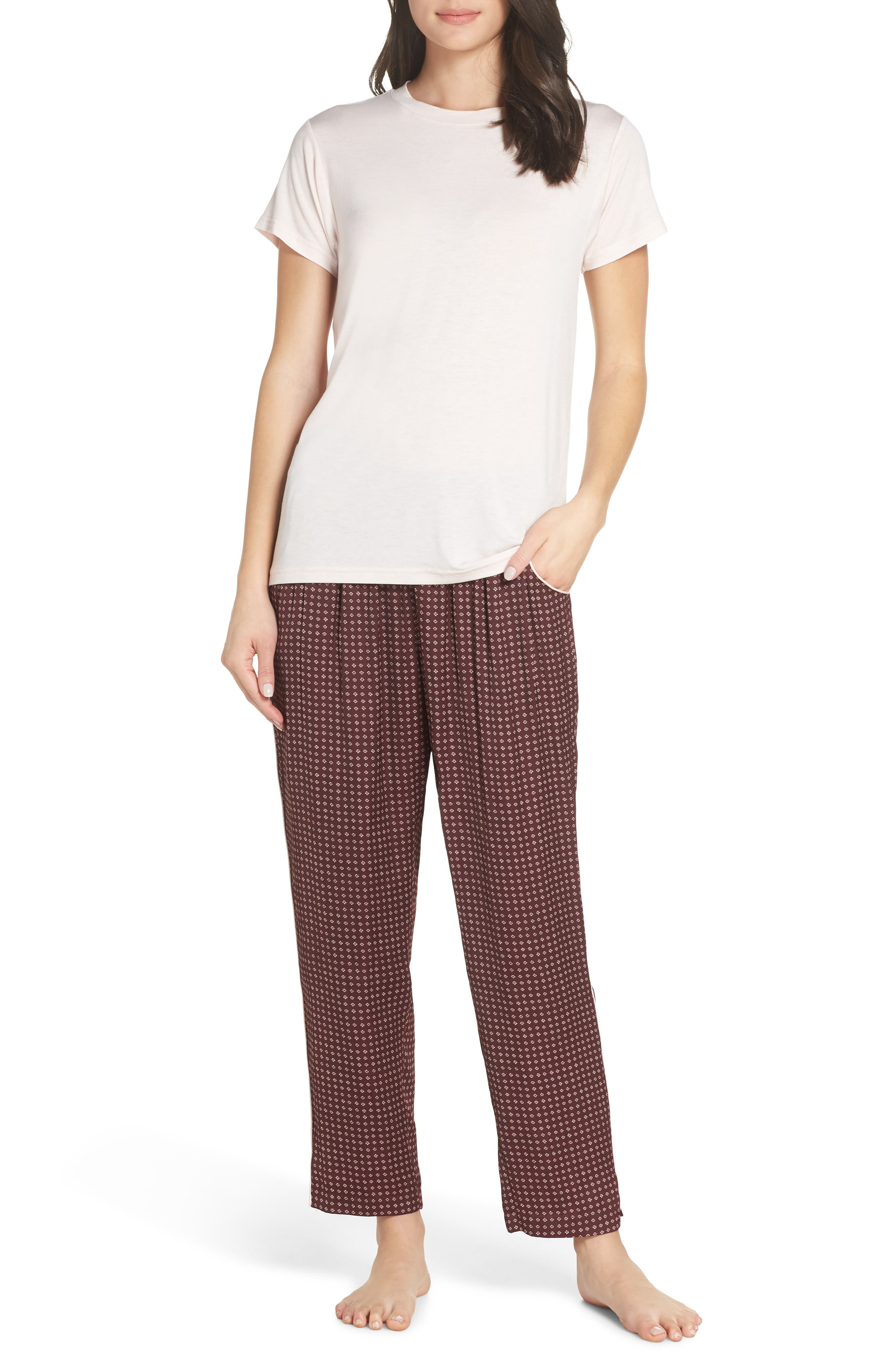 Satin Pajama Pants,                             Alternate thumbnail 8, color,                             610