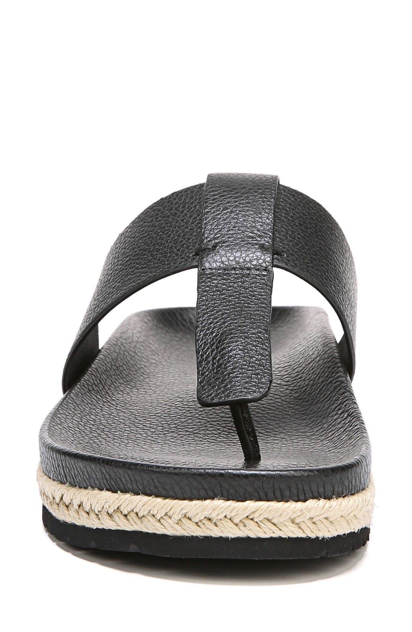 Avani T-Strap Flat Sandal,                             Alternate thumbnail 4, color,                             001