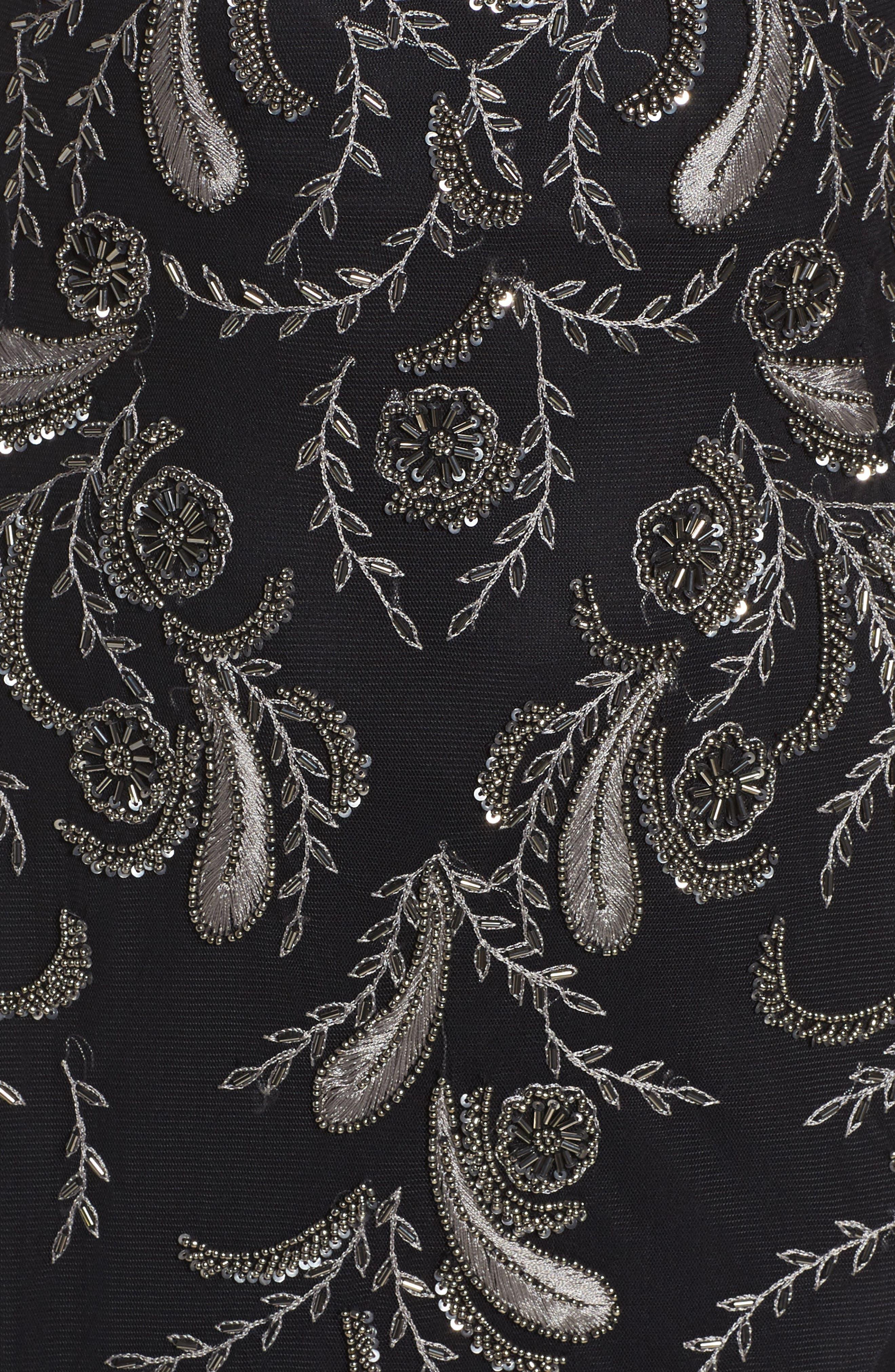 Embellished Sheer Back Maxi Dress,                             Alternate thumbnail 5, color,