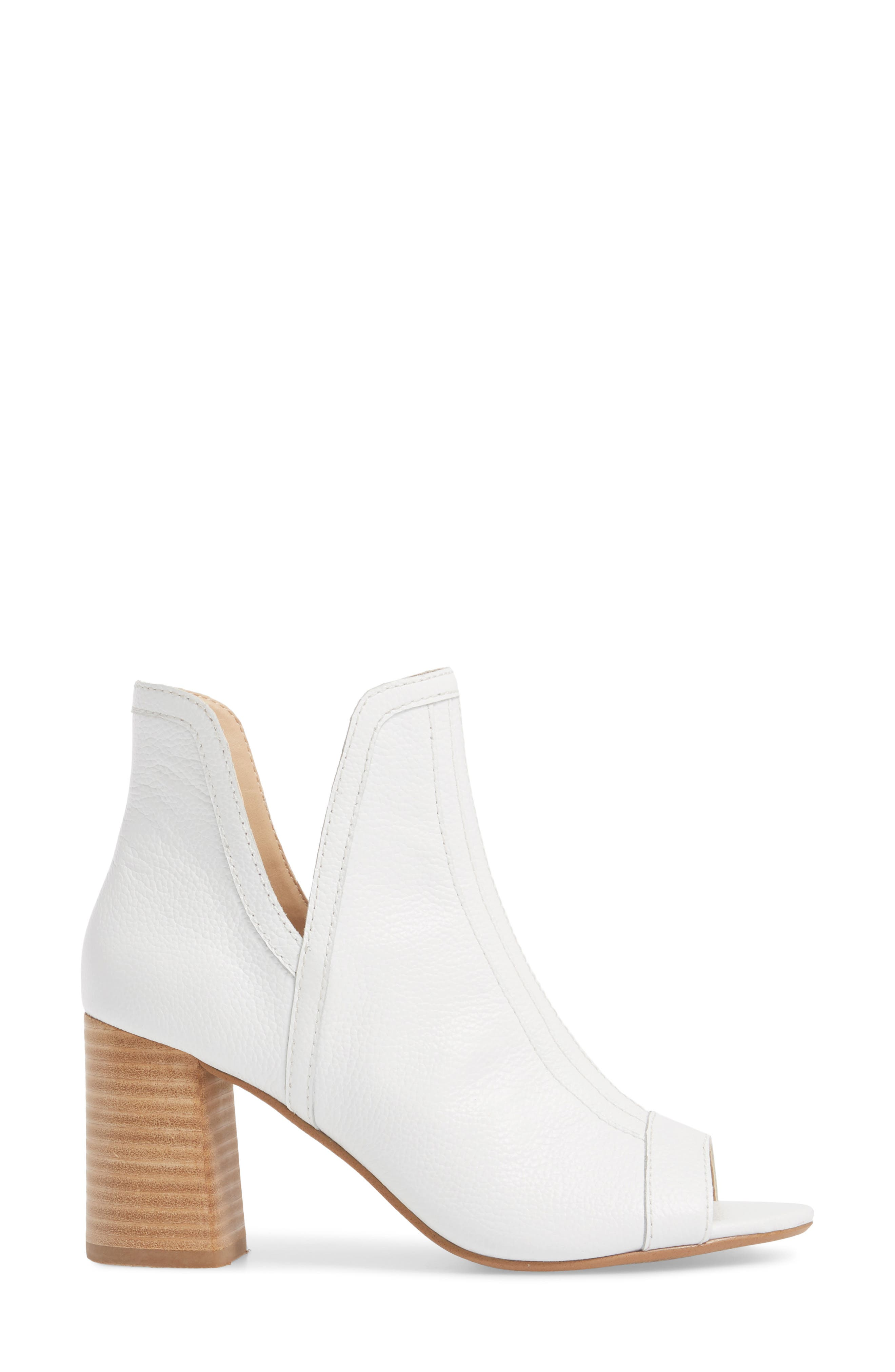 Marla Bootie,                             Alternate thumbnail 3, color,                             WHITE LEATHER
