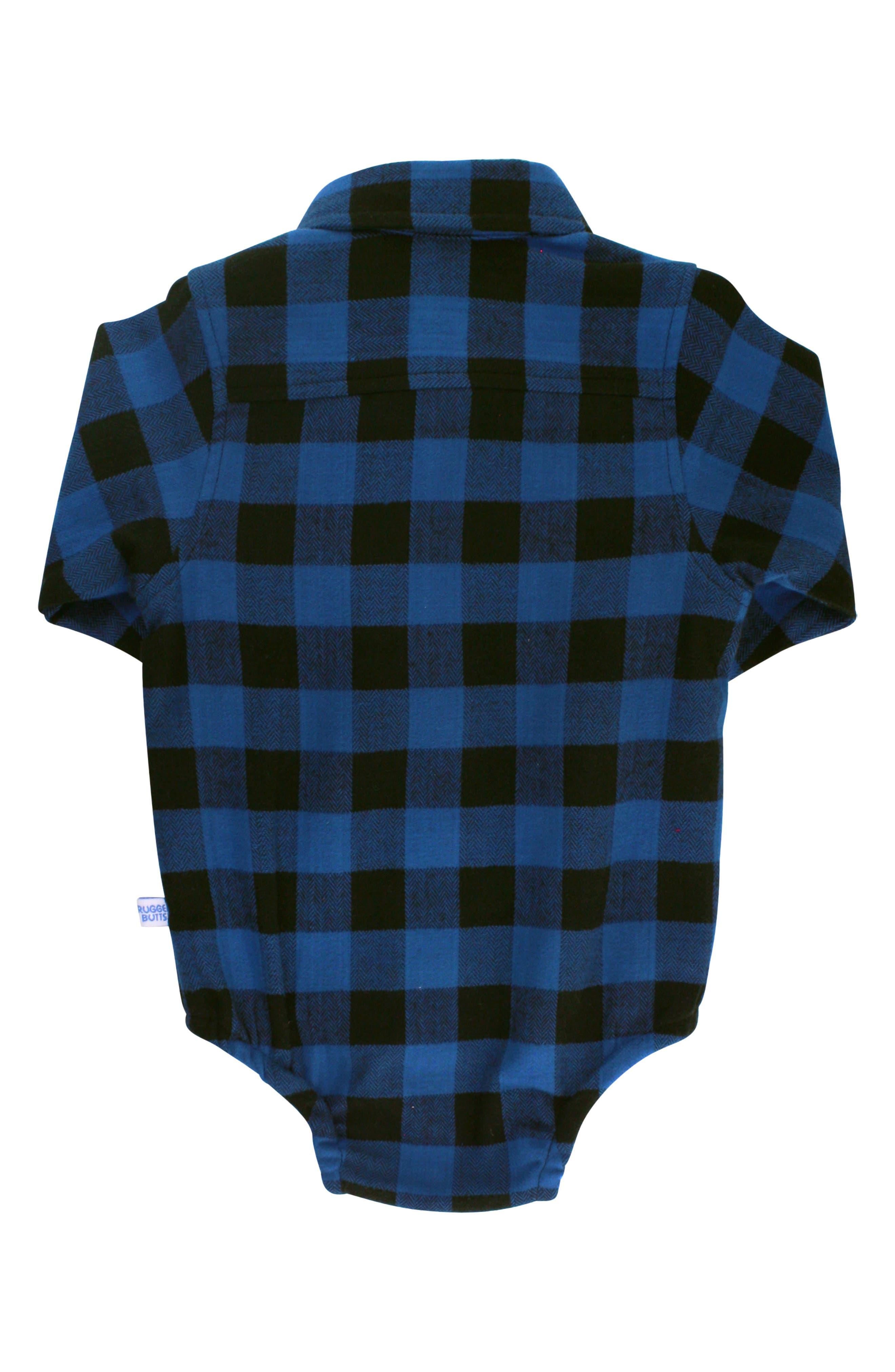 Plaid Bodysuit & Bow Tie Set,                             Alternate thumbnail 4, color,                             NAVY