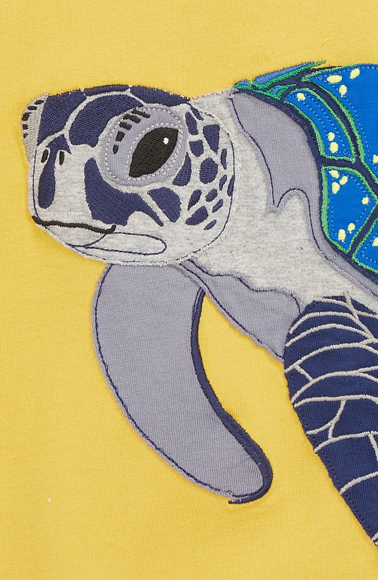 Turtle Appliqué T-Shirt,                             Alternate thumbnail 2, color,                             724
