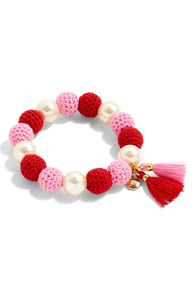 J.Crew Crochet Bead & Glass Pearl Bracelet   Nordstrom