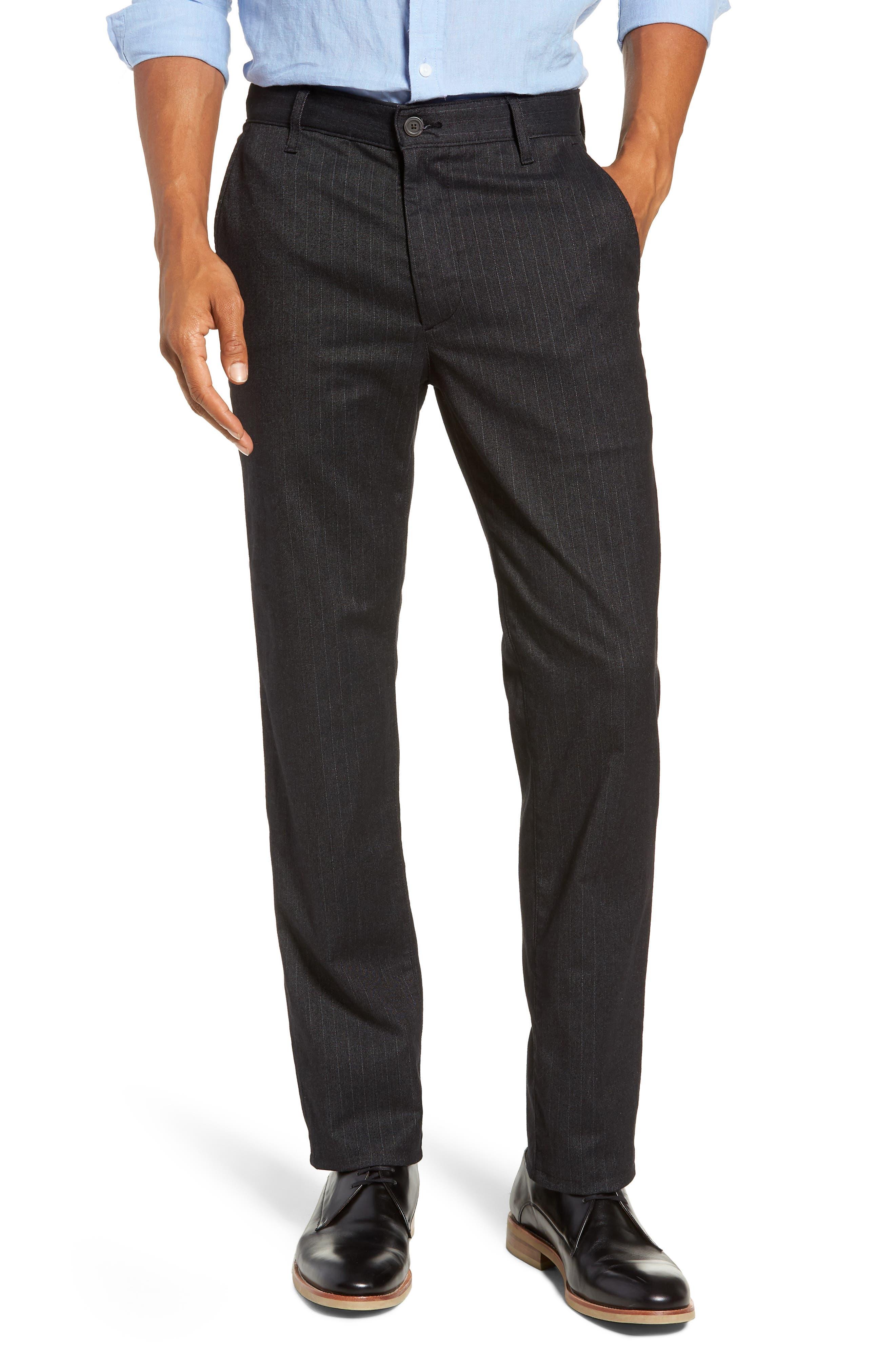 Marshall Slim Fit Pinstripe Pants,                         Main,                         color, HEATHERED MELANGE BLACK