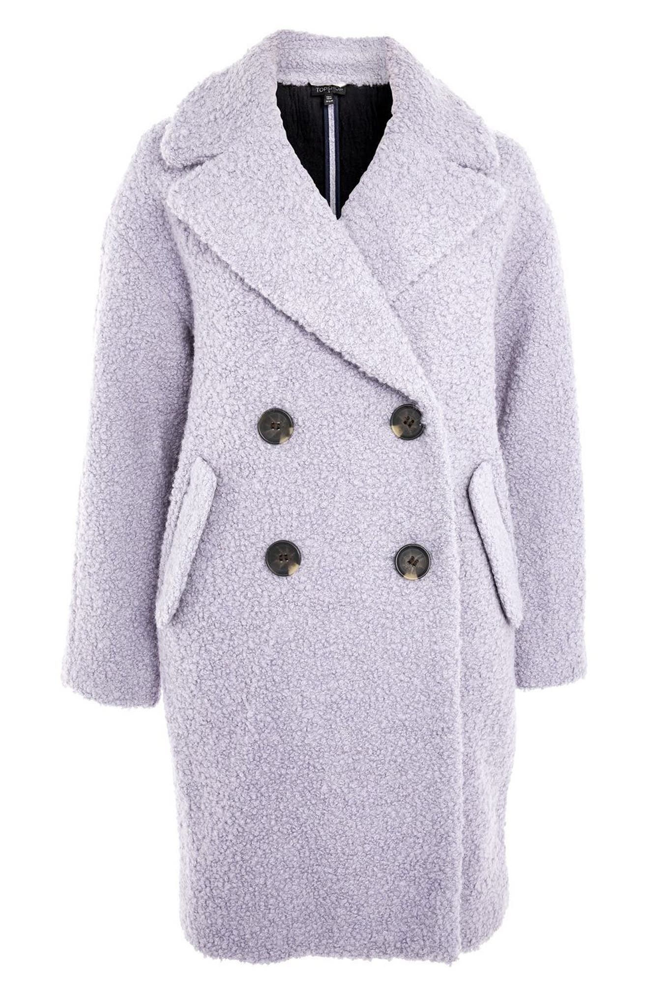 Alicia Bouclé Slouch Coat,                             Alternate thumbnail 3, color,                             050