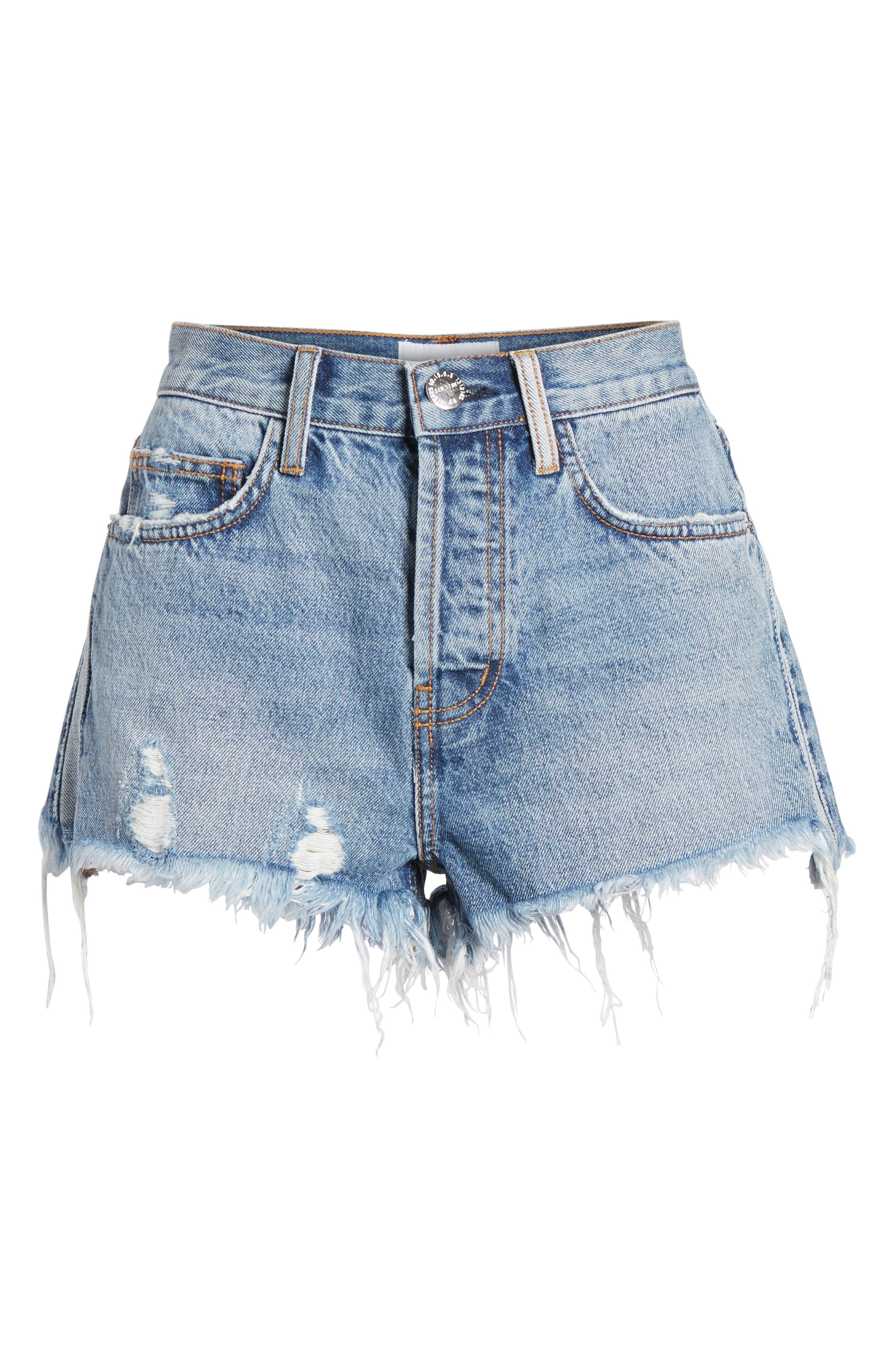 The Ultra High Waist Cutoff Denim Shorts,                             Alternate thumbnail 6, color,                             450