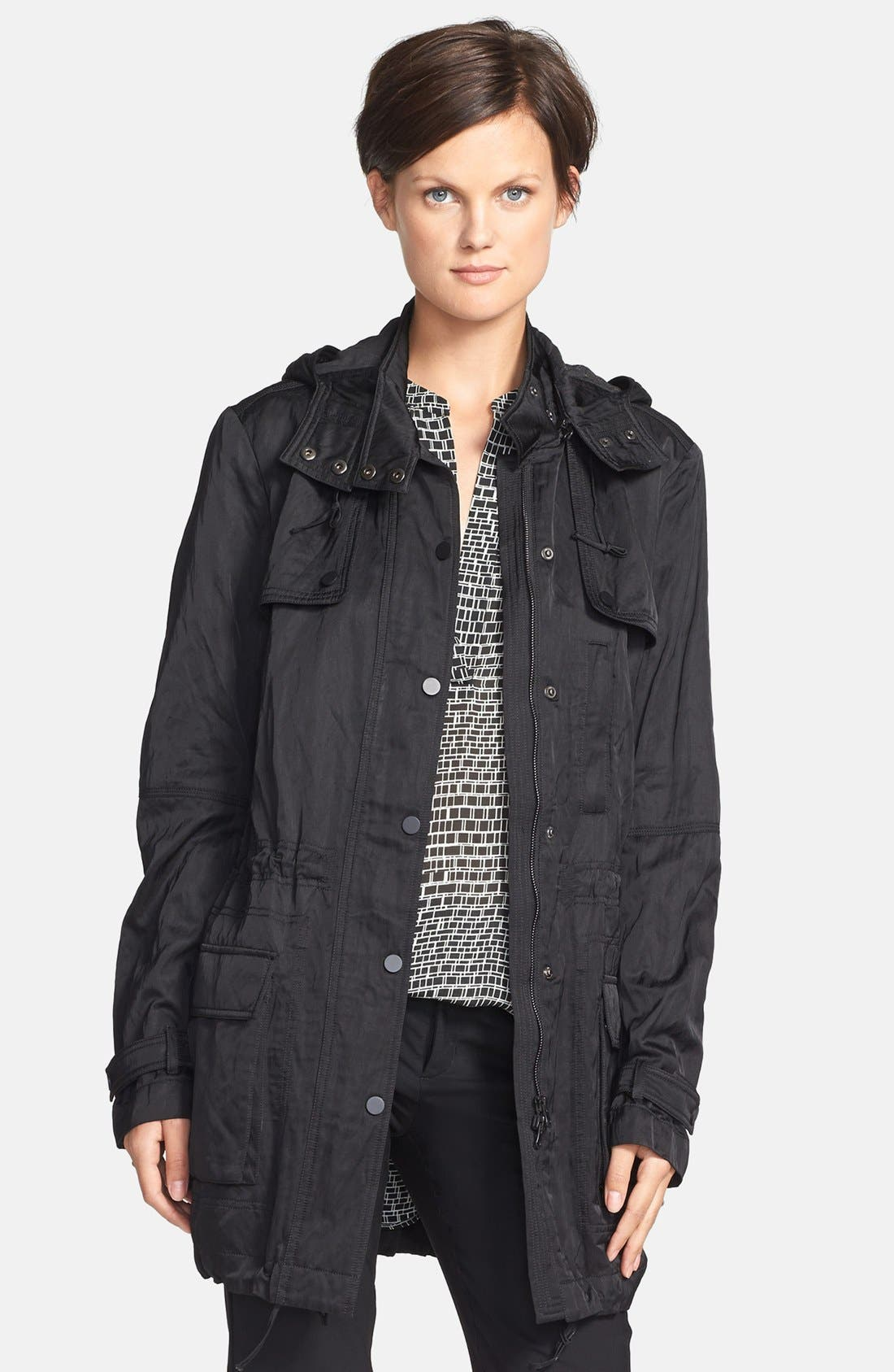 'Luxe' Anorak Jacket,                             Main thumbnail 1, color,                             001