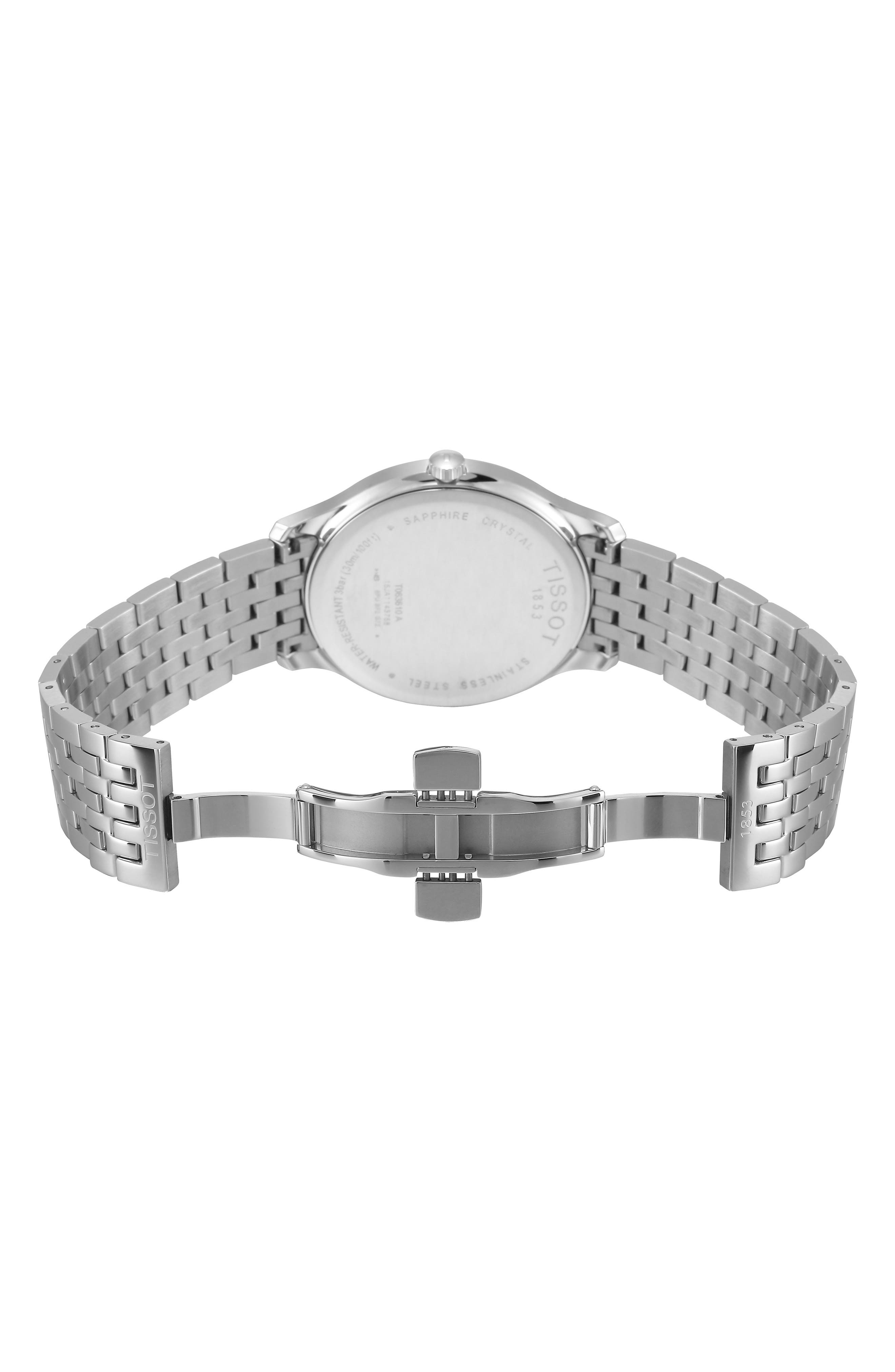 Tradition Bracelet Watch, 42mm,                             Alternate thumbnail 7, color,                             SILVER