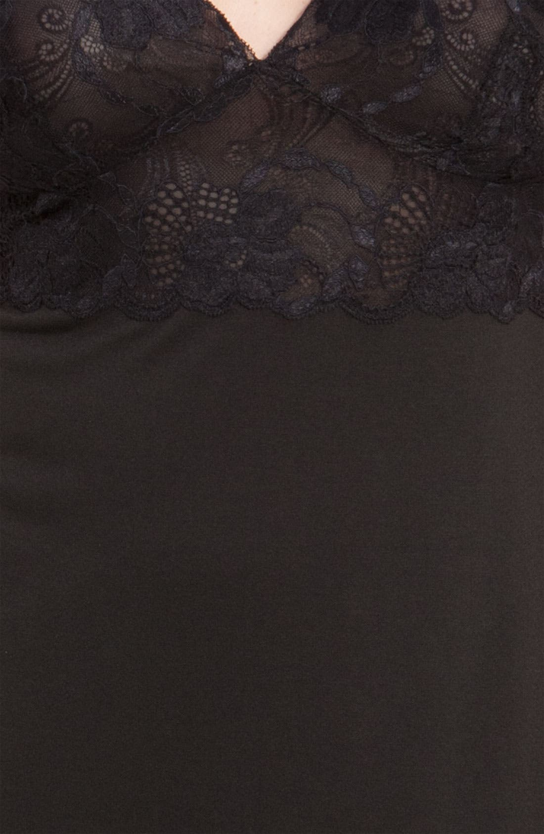 Zen Floral Chemise,                             Alternate thumbnail 4, color,                             BLACK