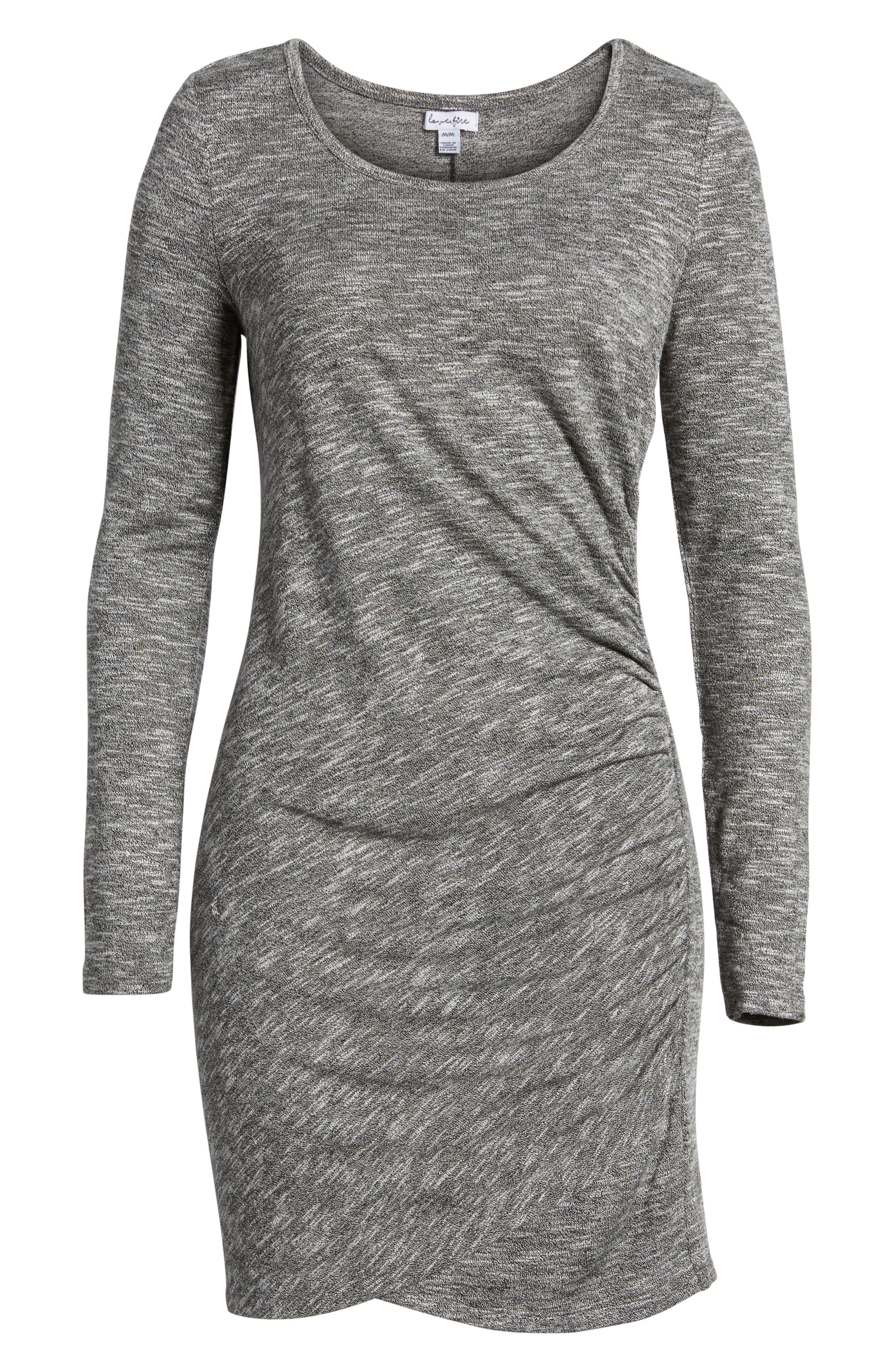 Ruched Knit Dress,                             Alternate thumbnail 6, color,                             020