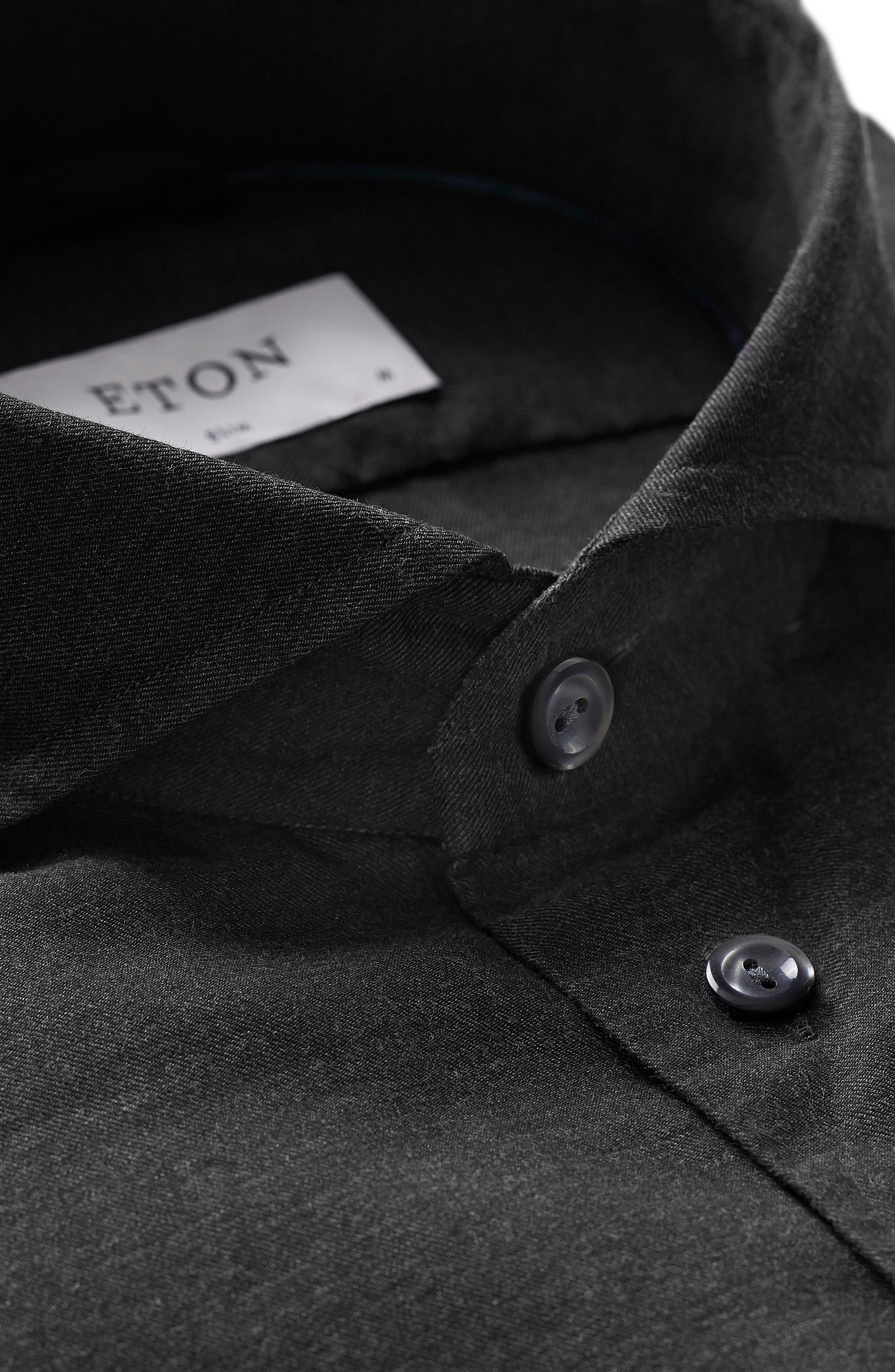 ETON,                             Slim Fit Solid Dress Shirt,                             Alternate thumbnail 2, color,                             001