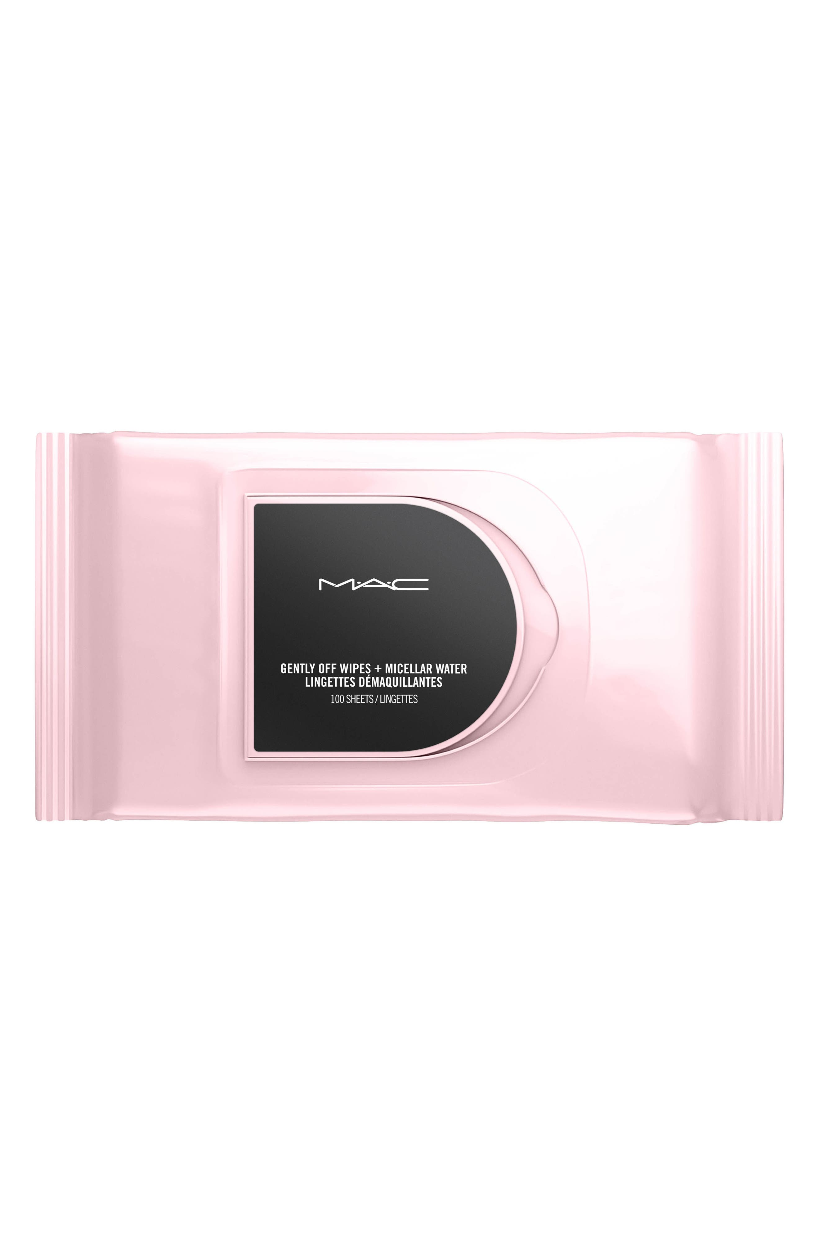MAC Gently Off Wipes + Micellar Water,                             Main thumbnail 1, color,                             NO COLOR
