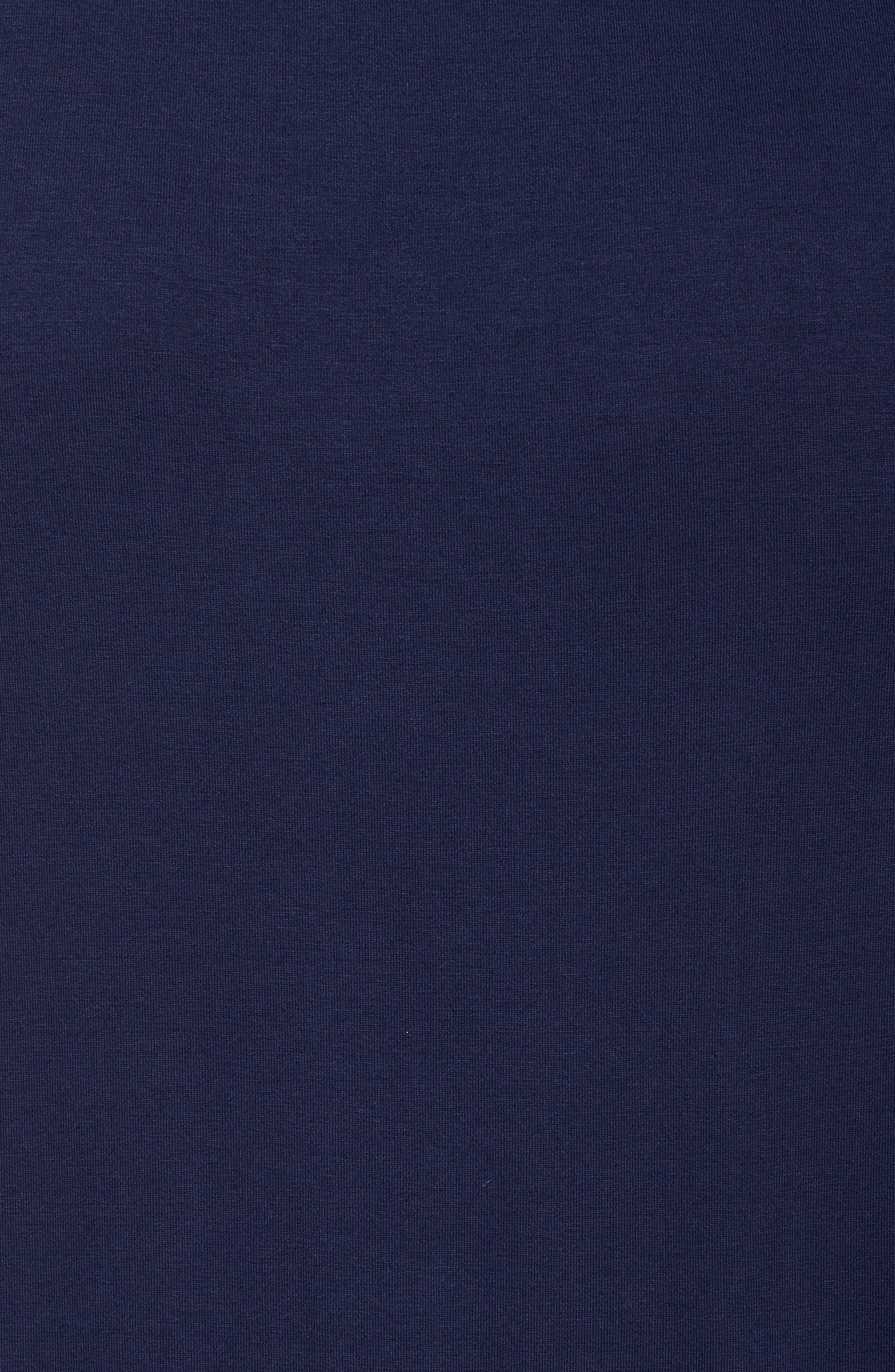 Knit Drawstring Waist Maxi Dress,                             Alternate thumbnail 6, color,                             NAVY PEACOAT