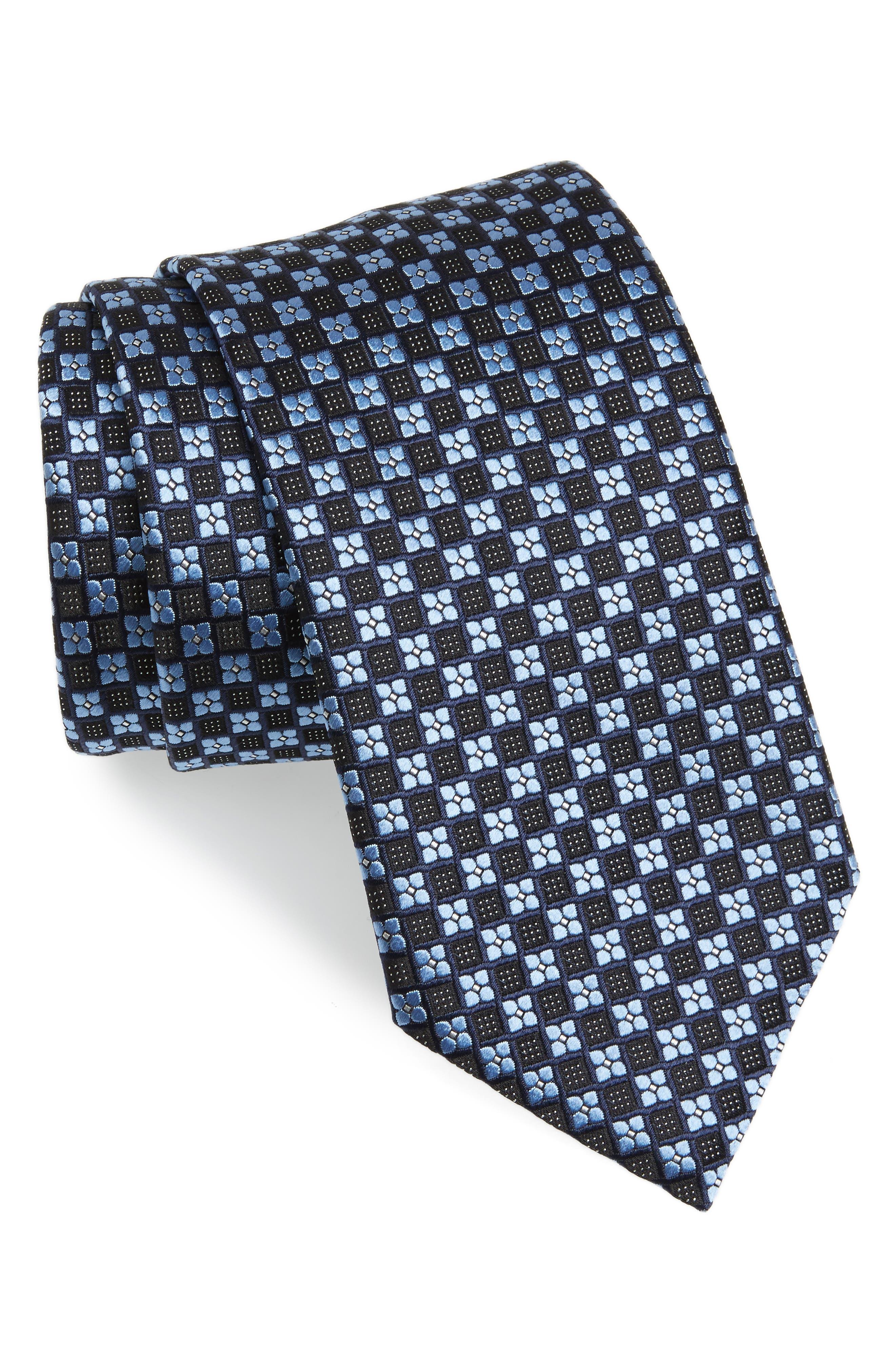 Medallion Silk Tie,                         Main,                         color, 428