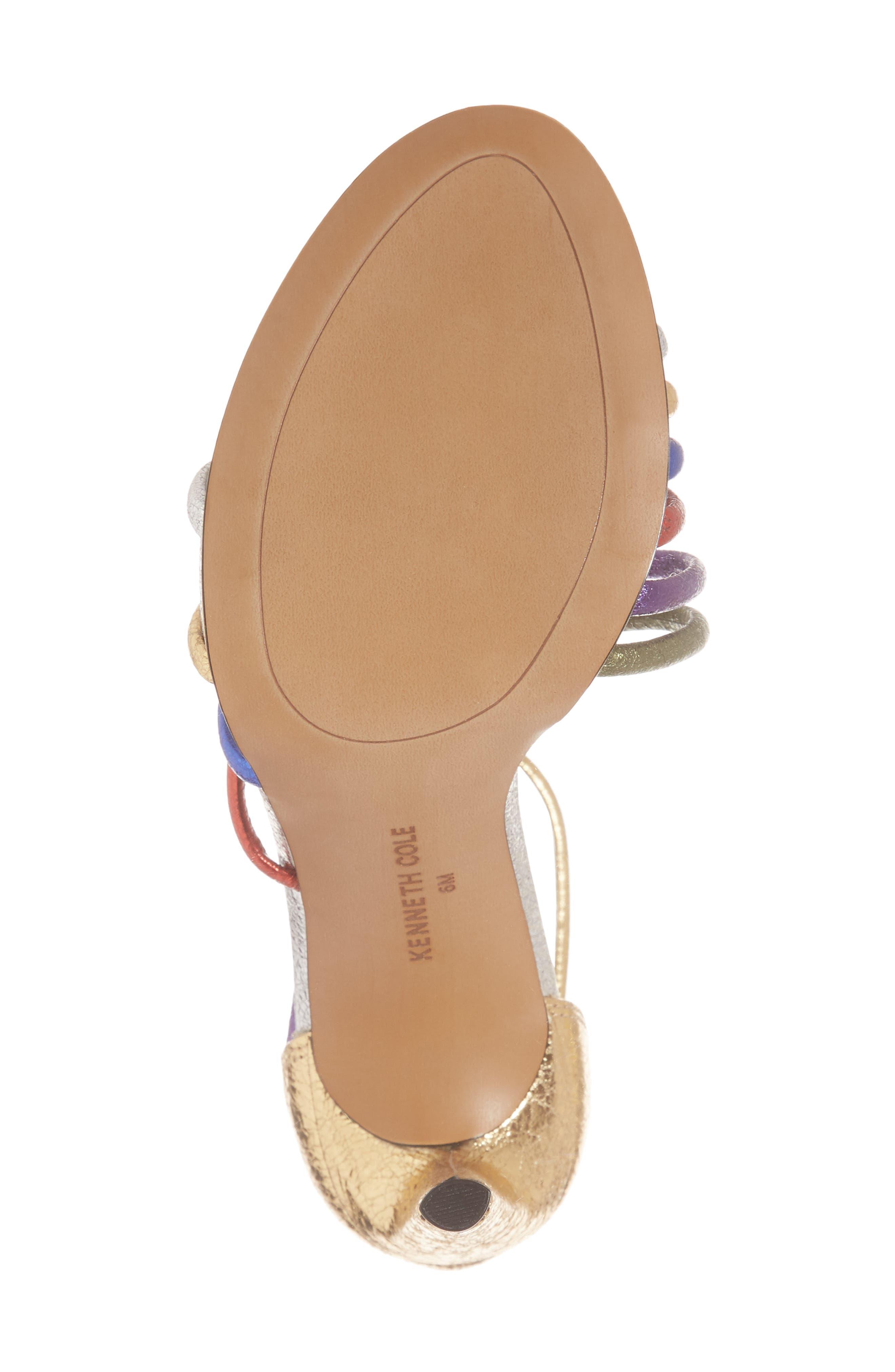 Barletta Asymmetrical Strappy Sandal,                             Alternate thumbnail 6, color,                             MULTI LEATHER