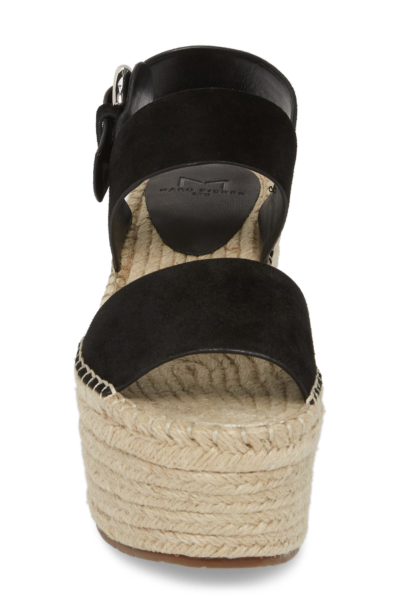 Renni Espadrille Platform Wedge Sandal,                             Alternate thumbnail 4, color,                             002