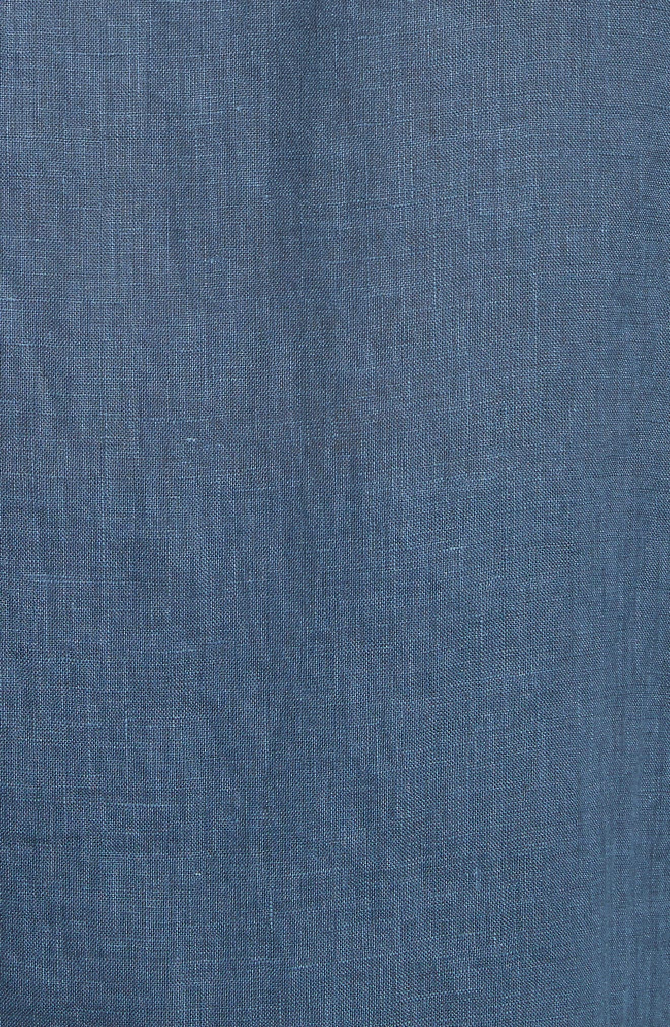 Garment Dyed Linen Shirt,                             Alternate thumbnail 5, color,                             LAKE BLUE
