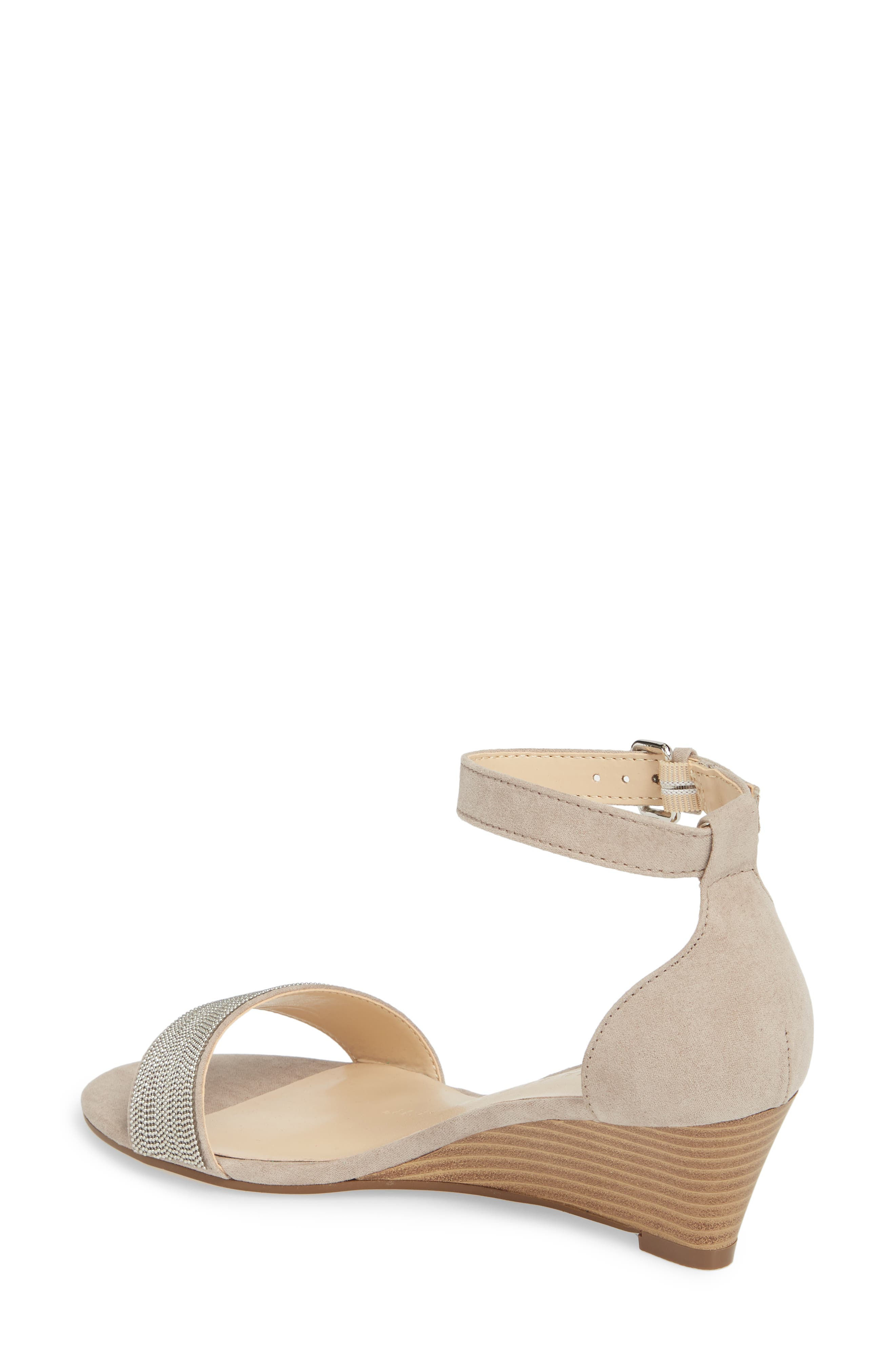 Enfield Ankle Strap Wedge Sandal,                             Alternate thumbnail 2, color,                             TAUPE SUEDE
