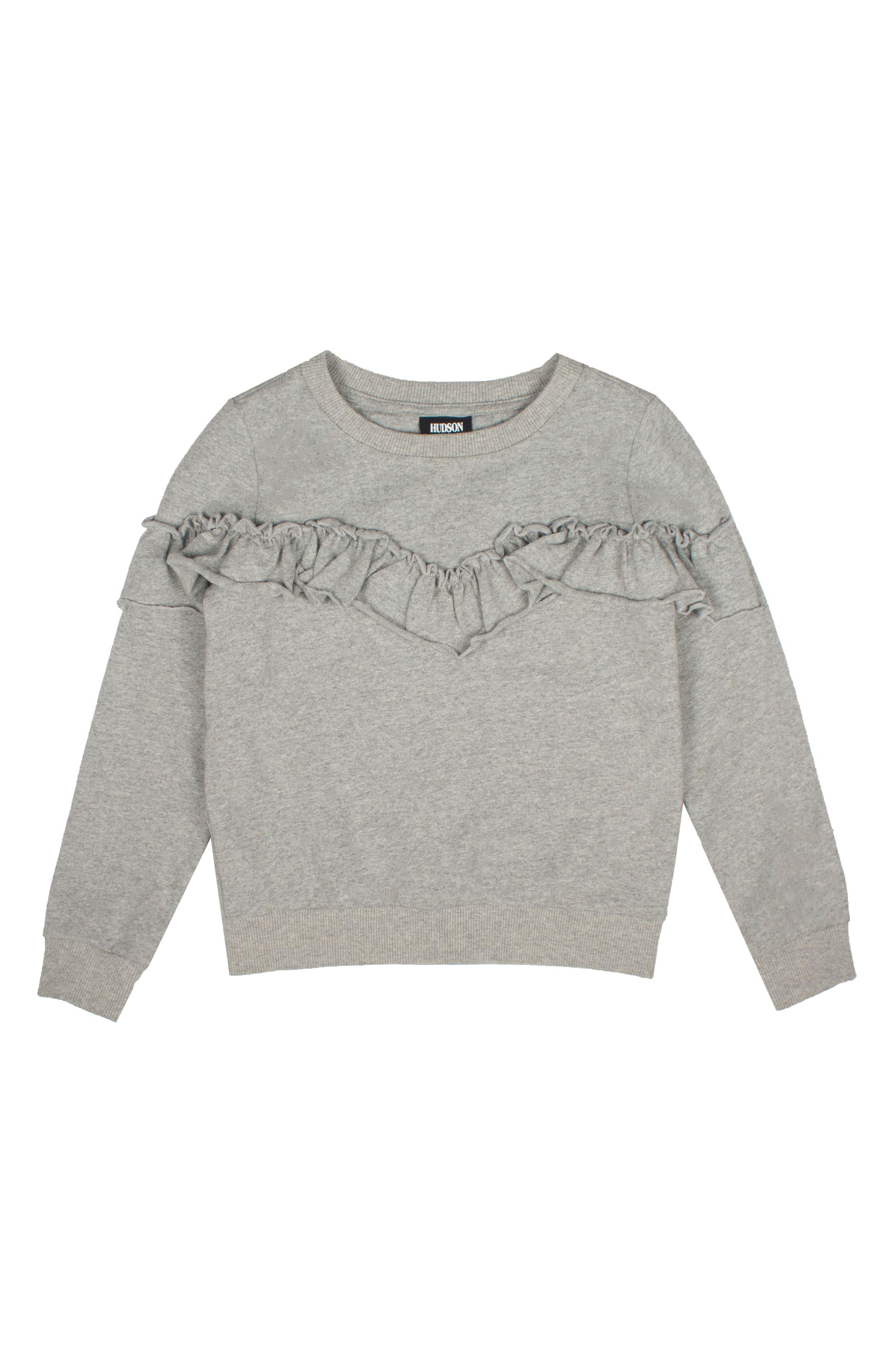 Ruffle Sweatshirt,                             Alternate thumbnail 2, color,