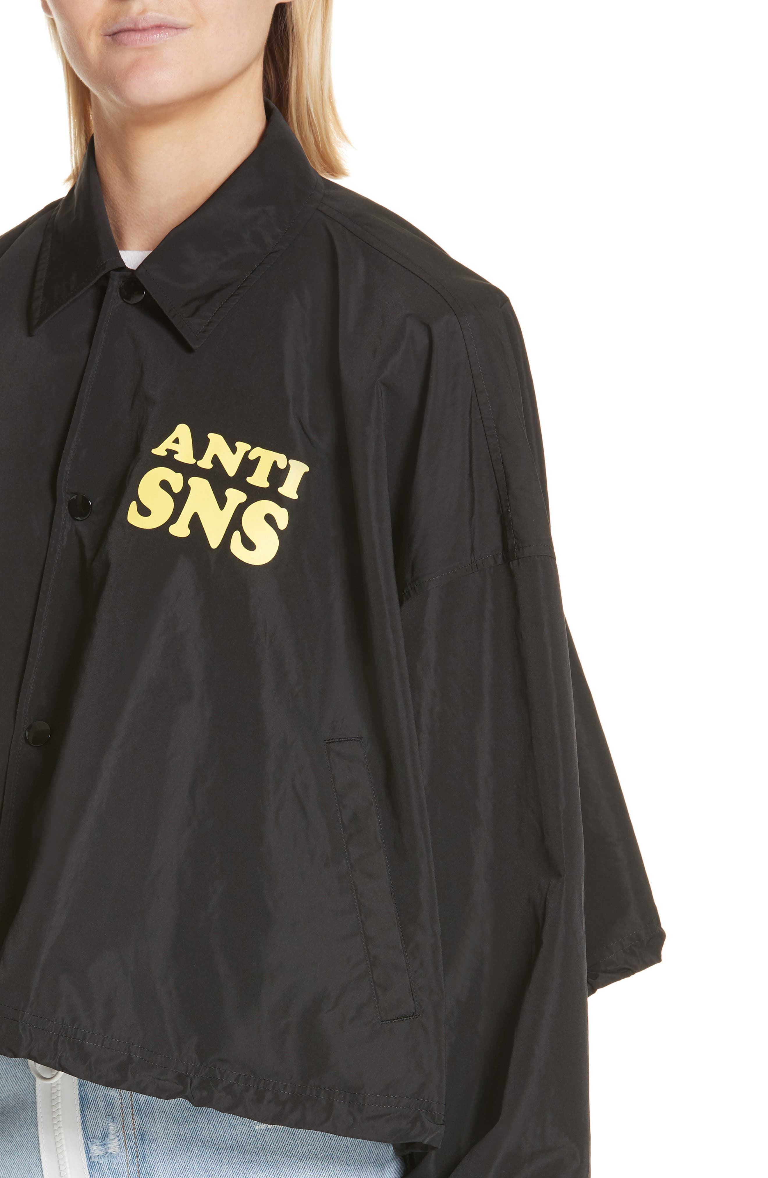 Anti SNS Jacket,                             Alternate thumbnail 4, color,                             001