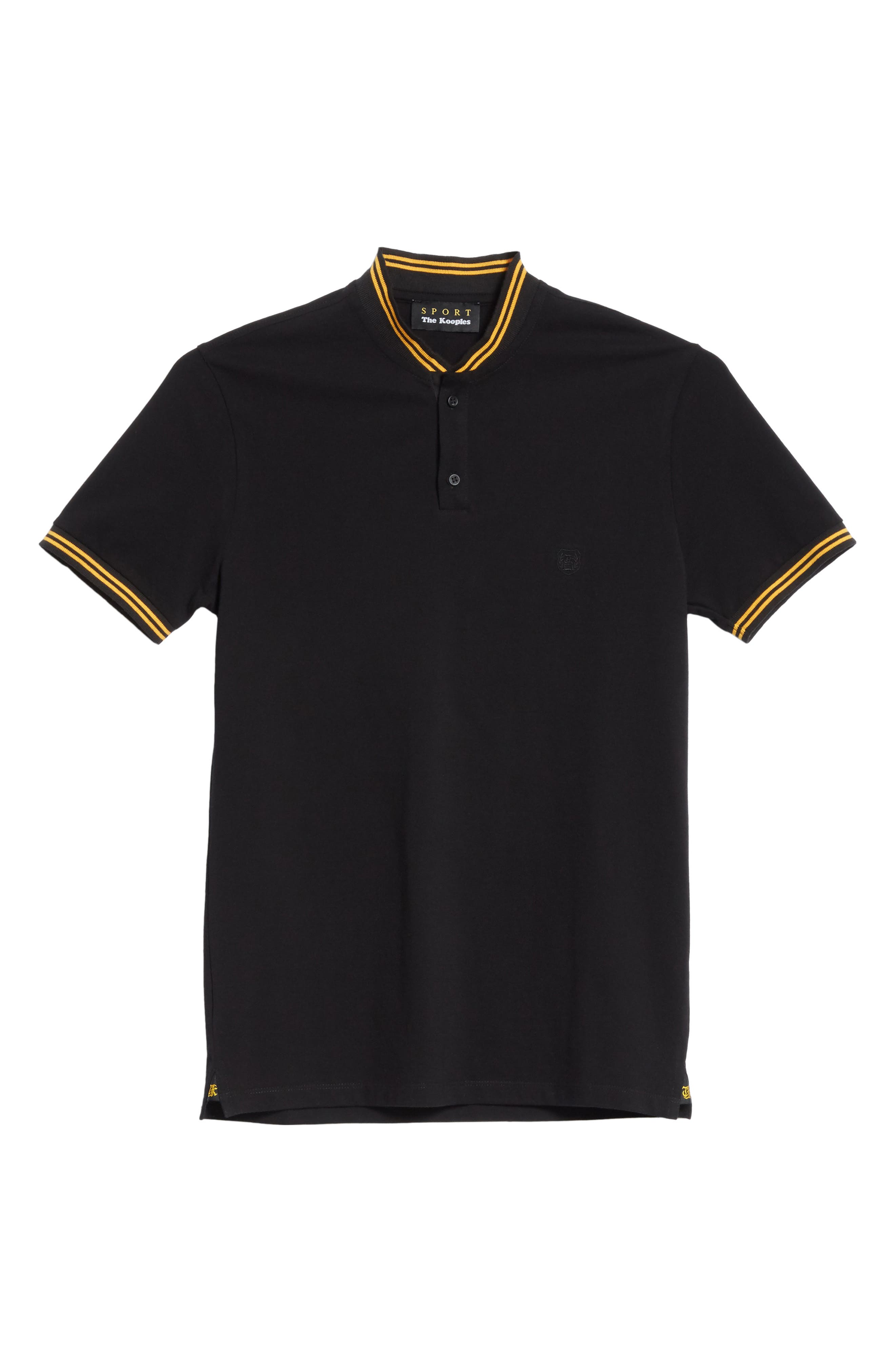 Tipped Polo,                             Alternate thumbnail 6, color,                             001