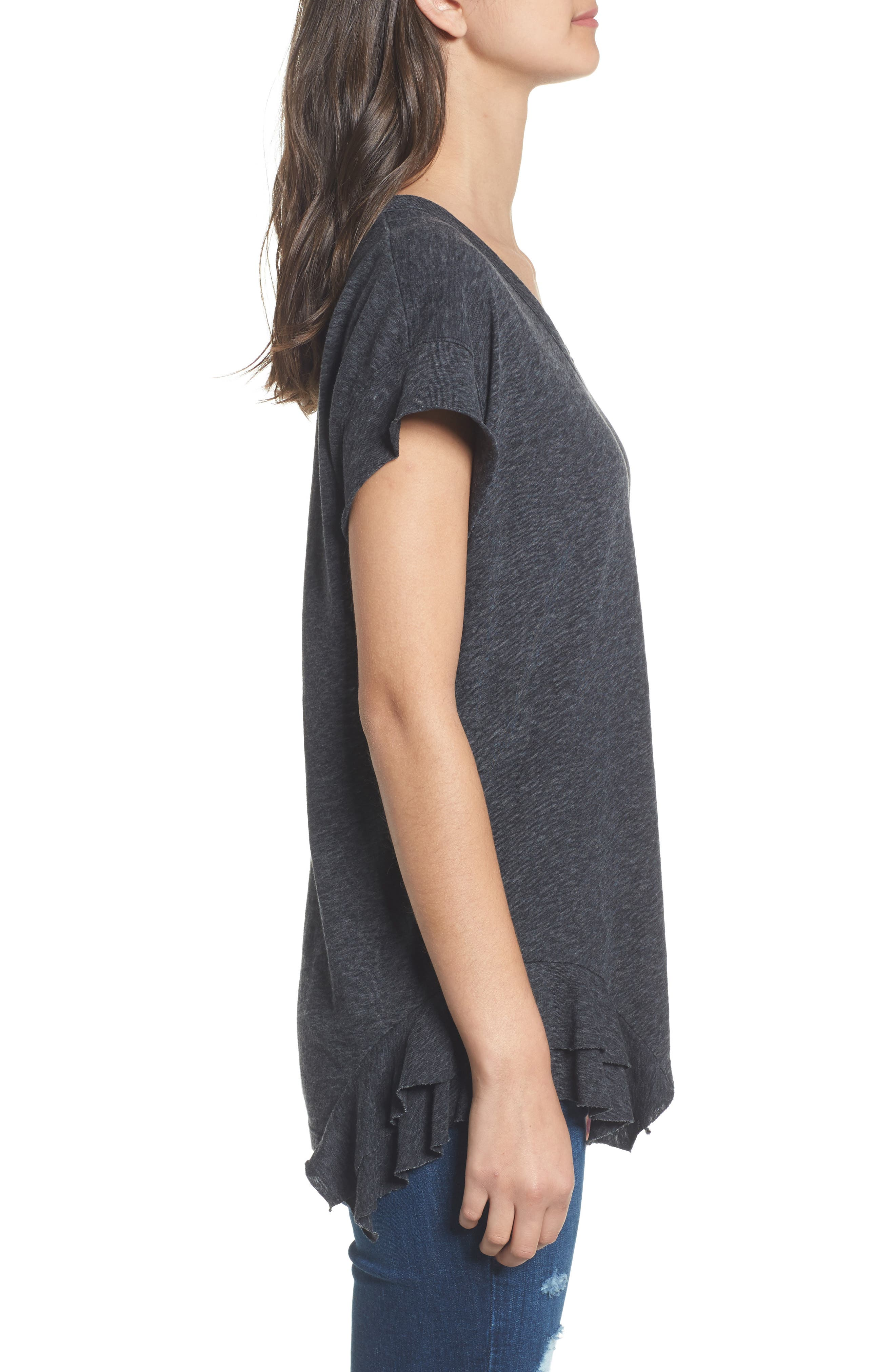 The Tier Ruffle Tee,                             Alternate thumbnail 3, color,                             088