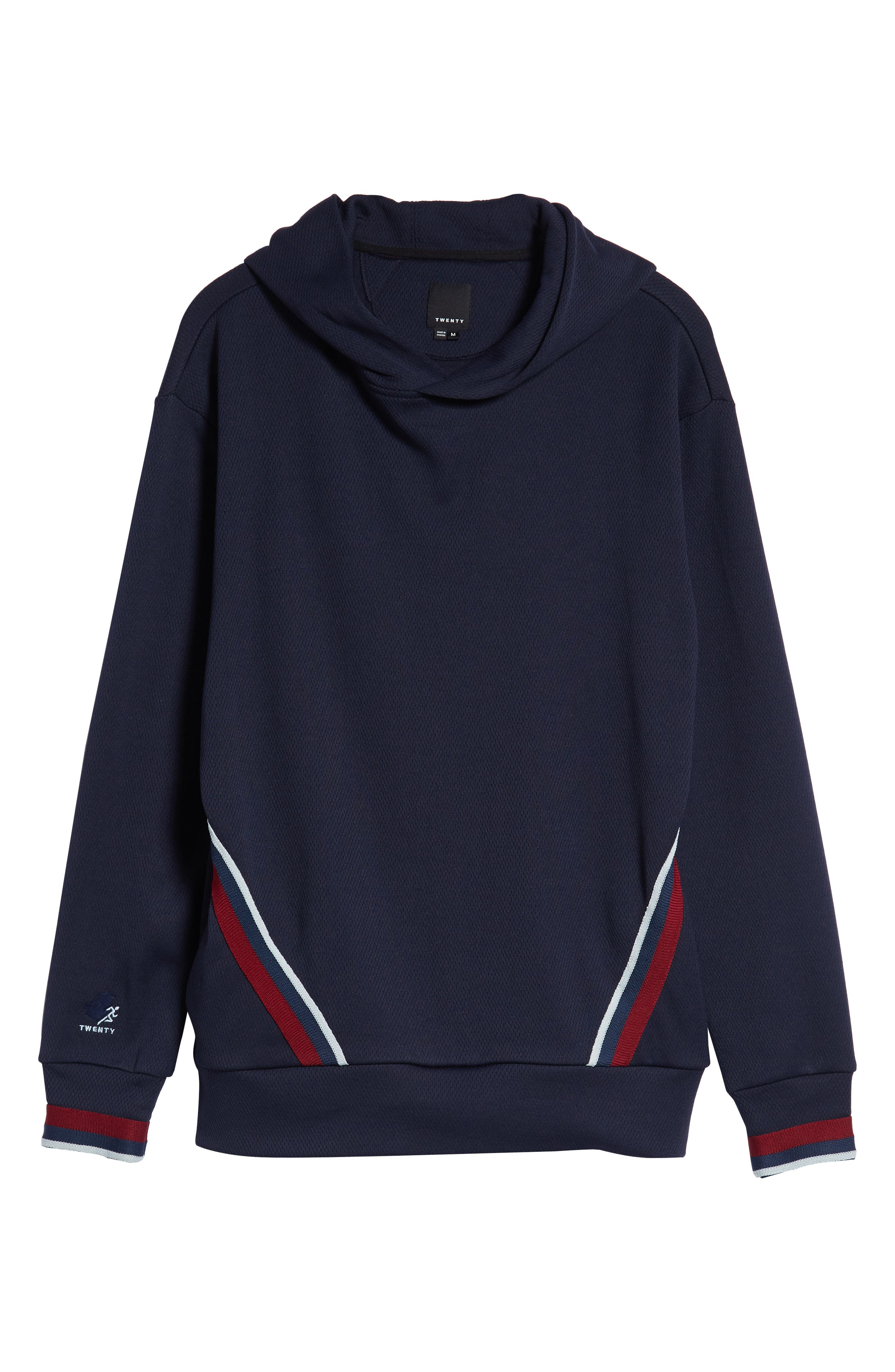 Oversize Track Hoodie,                             Alternate thumbnail 6, color,                             ADMIRAL