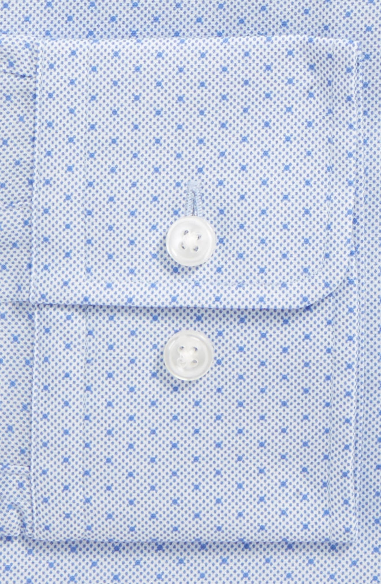 Mark Sharp Fit Dot Dress Shirt,                             Alternate thumbnail 2, color,                             BLUE
