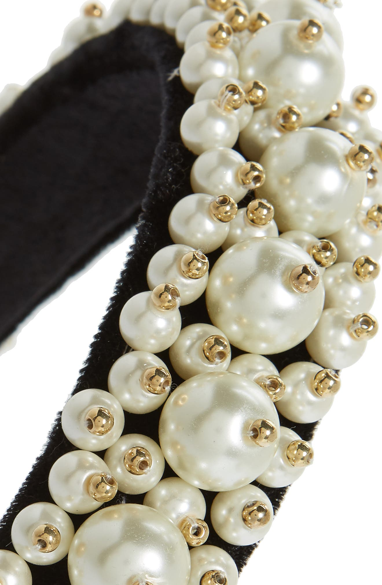 Imitation Pearl Cluster Headband,                             Alternate thumbnail 2, color,                             001