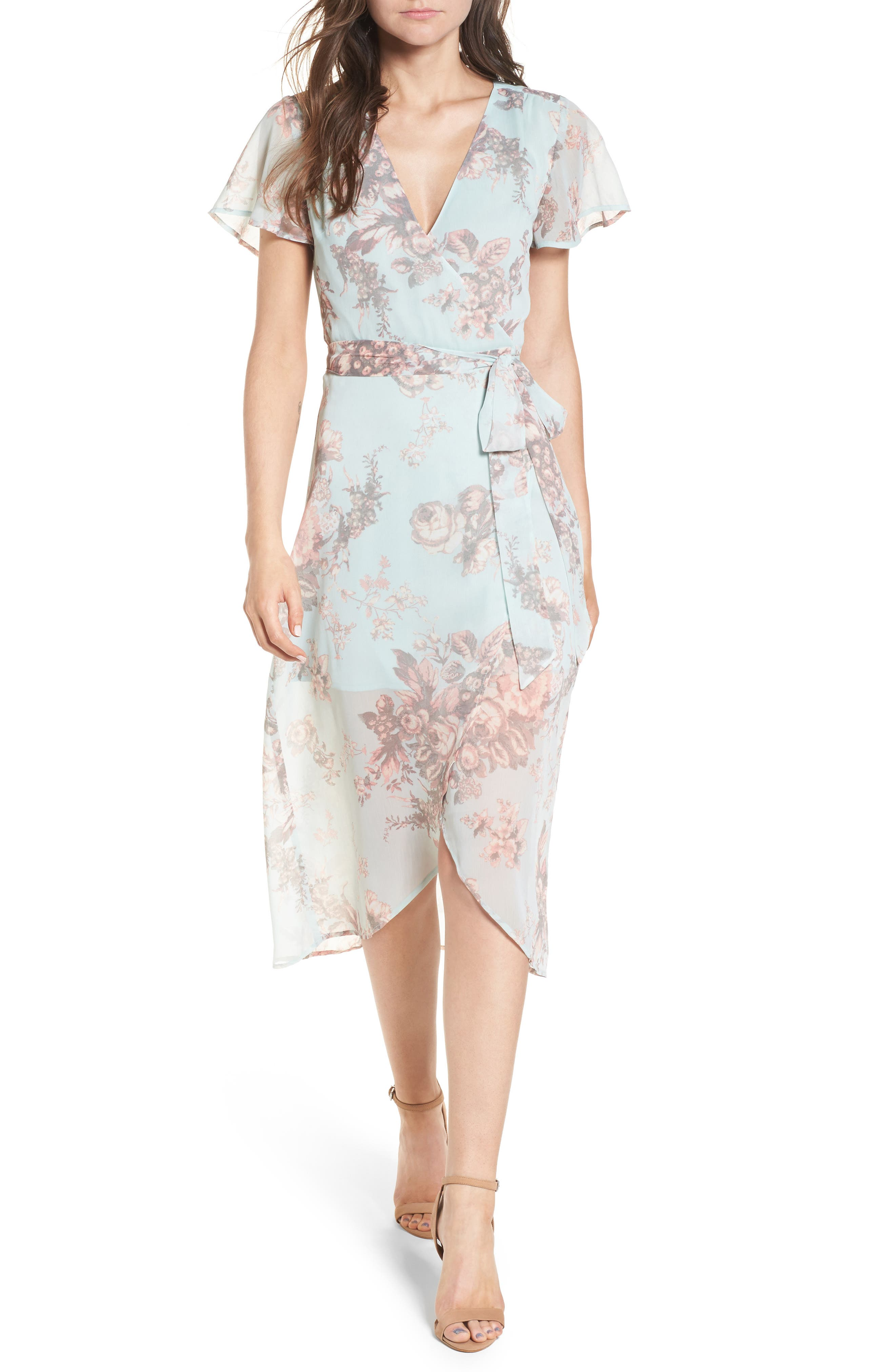 Wrap Midi Dress,                         Main,                         color,