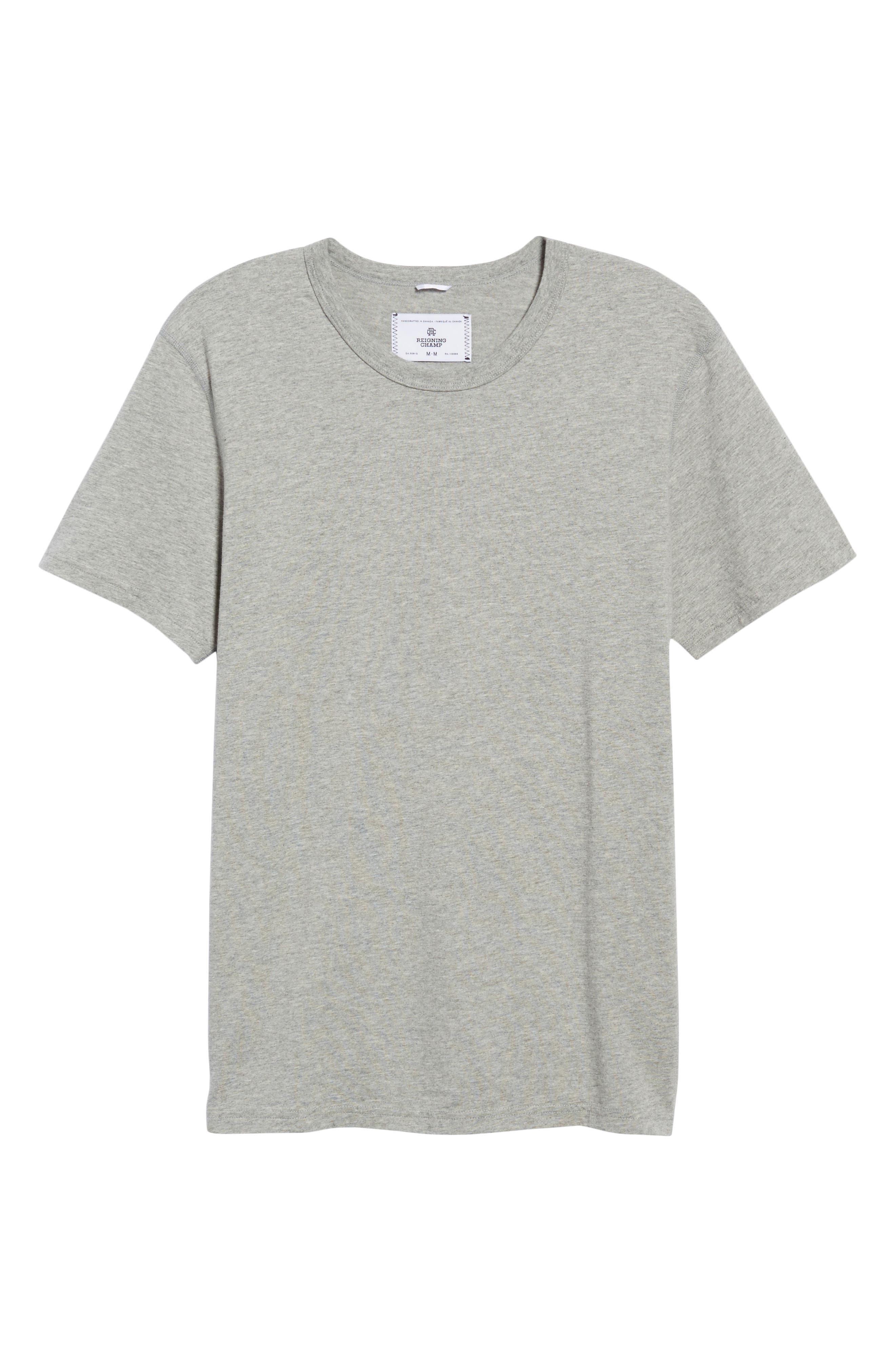 Short Sleeve Crewneck T-Shirt,                         Main,                         color, HEATHER GREY