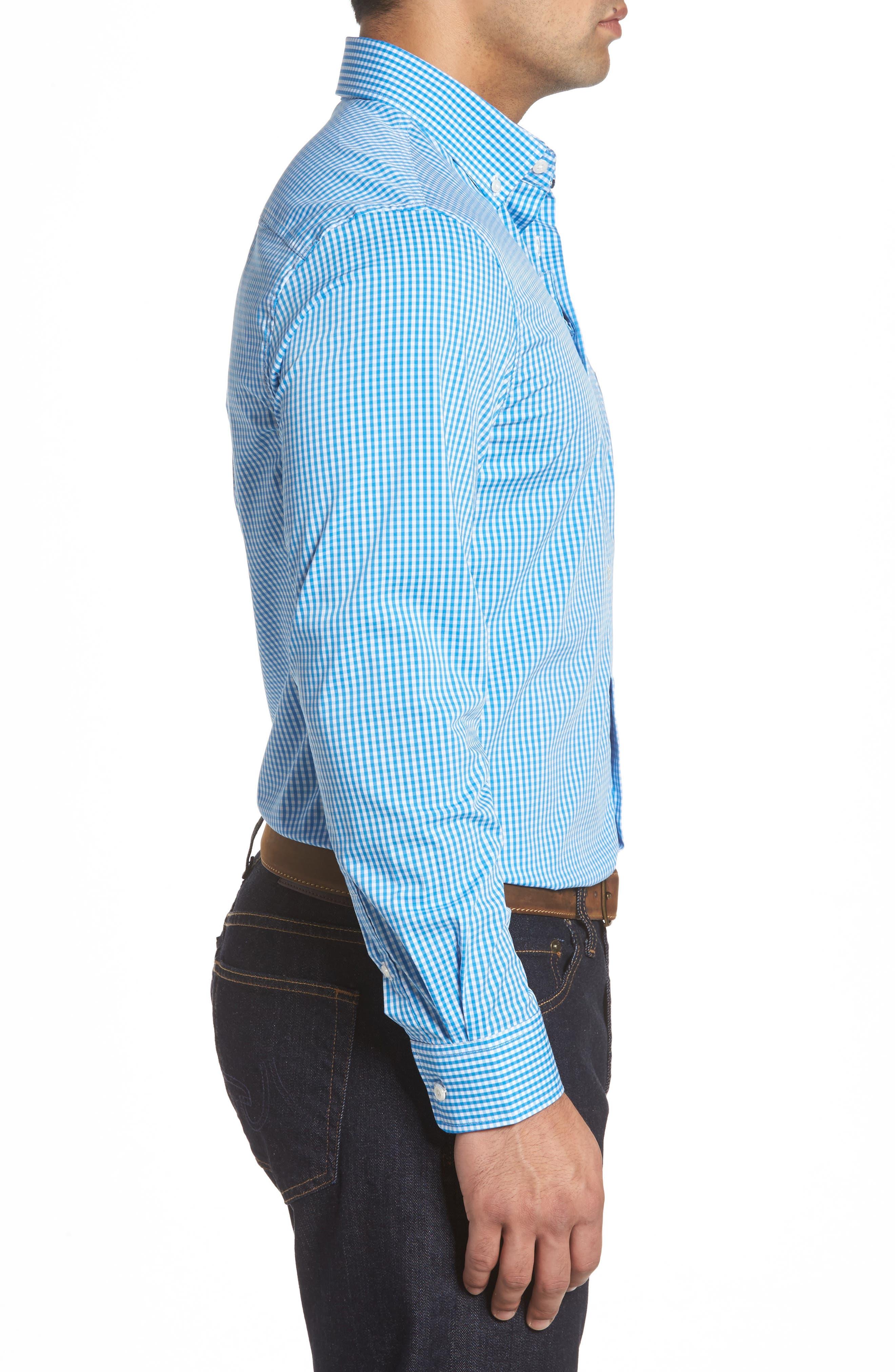 Augusta Classic Fit Check Sport Shirt,                             Alternate thumbnail 6, color,