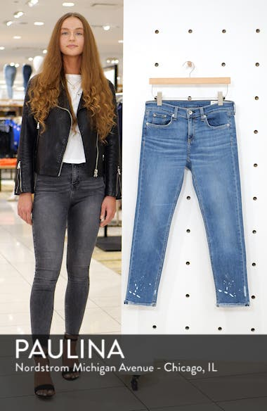 The Dre Ankle Slim Boyfriend Jeans, sales video thumbnail