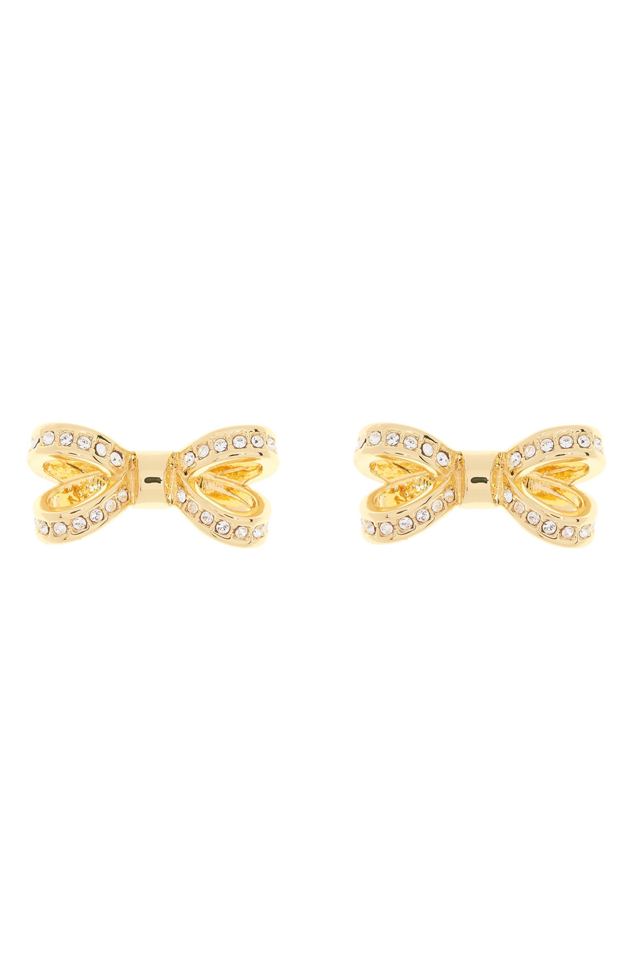 Mini Opulent Pavé Bow Stud Earrings,                             Main thumbnail 3, color,