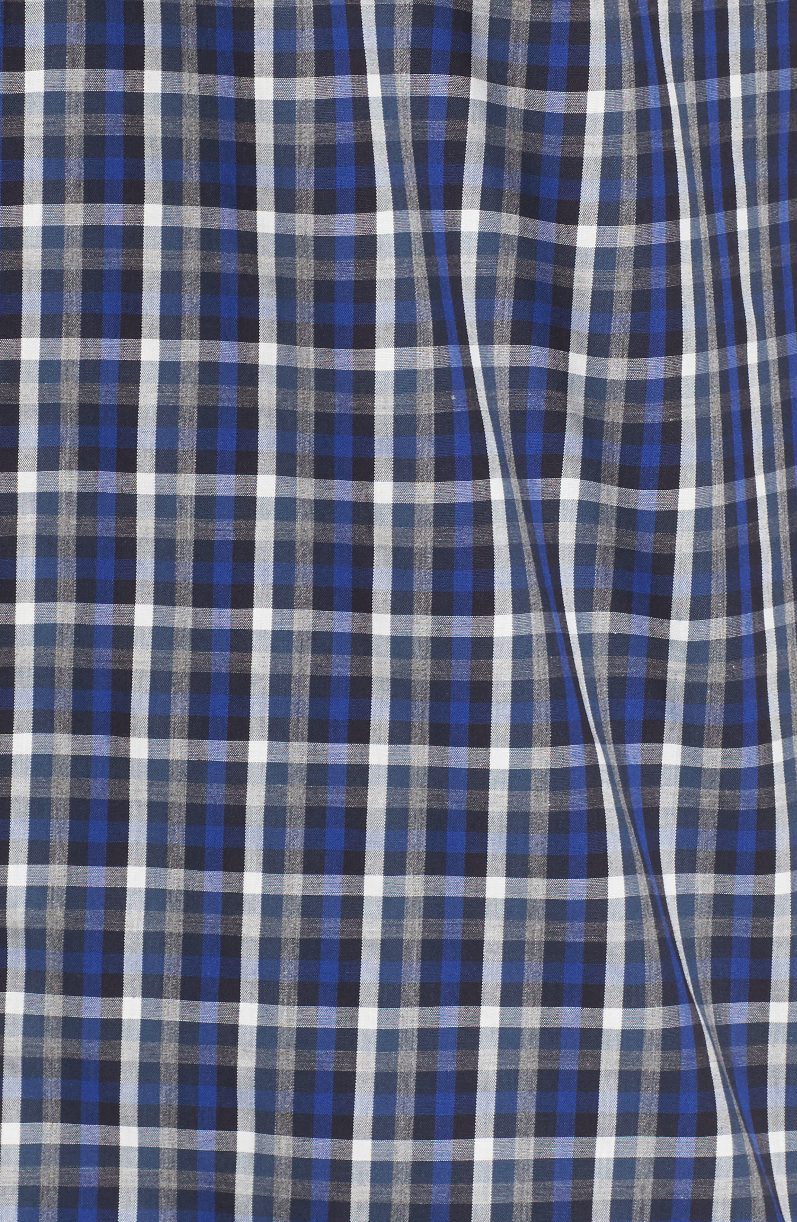 Regular Fit Non-Iron Spade Check Dress Shirt,                             Alternate thumbnail 5, color,                             401