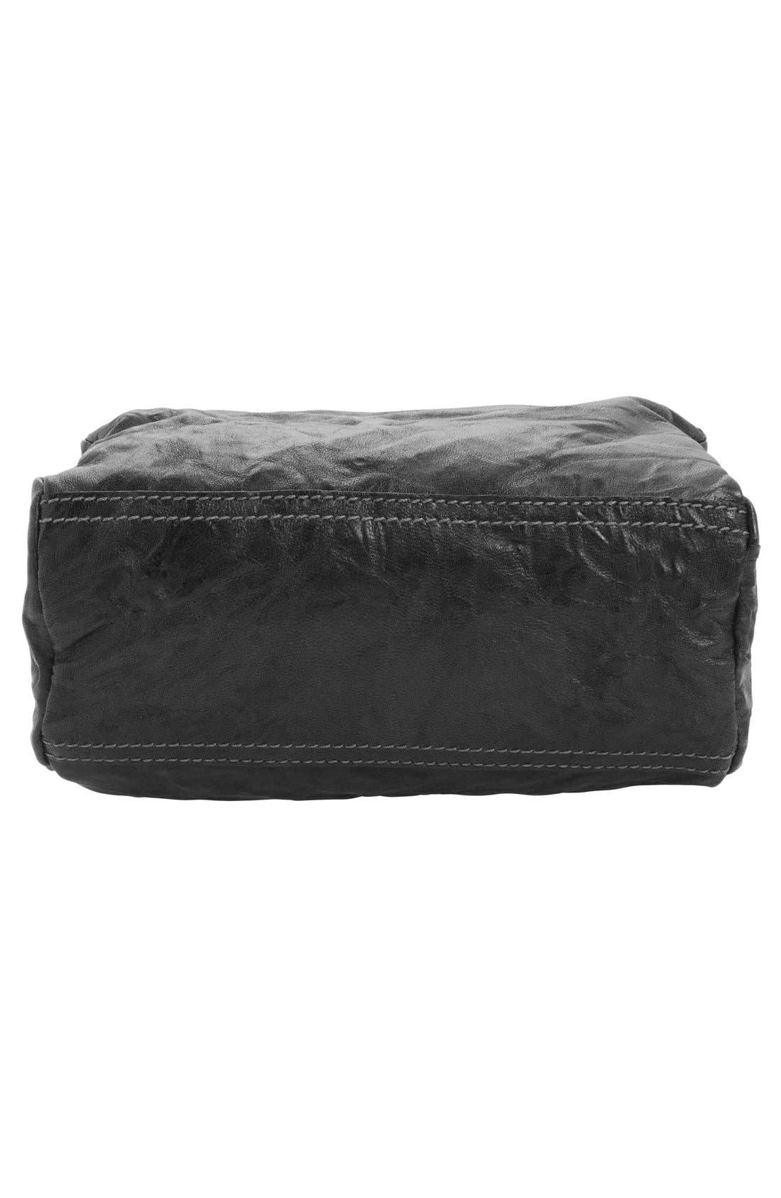 'Mini Pepe Pandora' Leather Shoulder Bag,                             Alternate thumbnail 5, color,                             BLACK