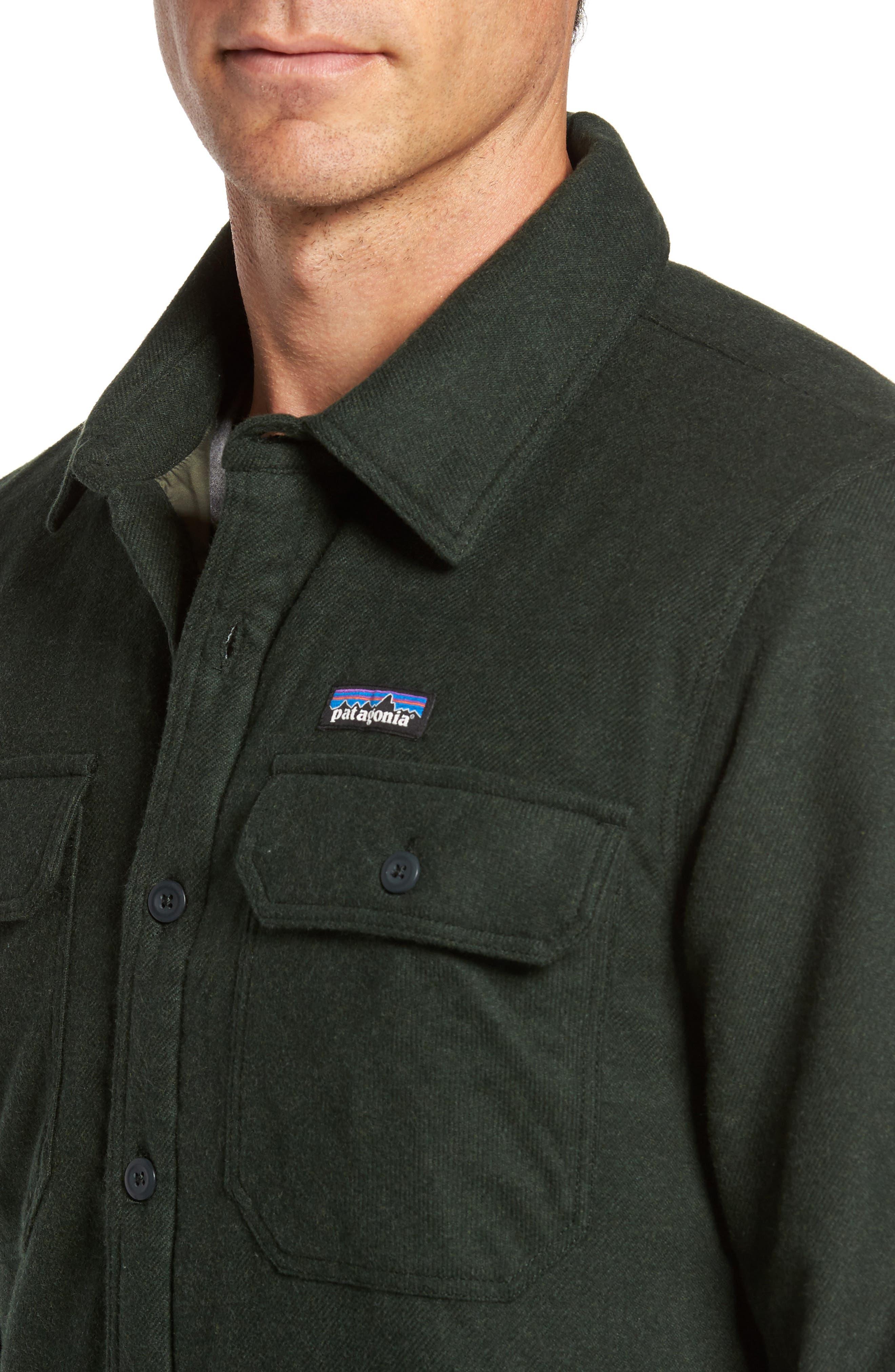 'Fjord' Flannel Shirt Jacket,                             Alternate thumbnail 4, color,                             002