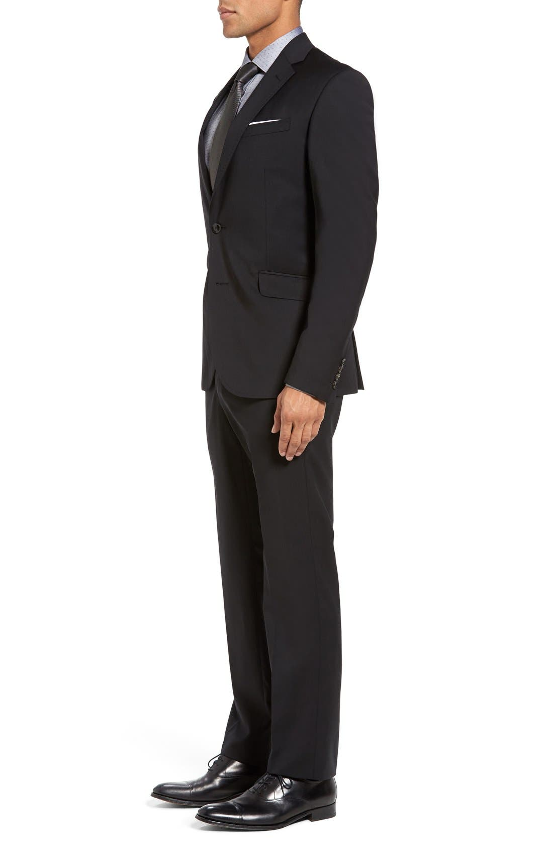 Jones Trim Fit Wool Suit,                             Alternate thumbnail 10, color,                             001
