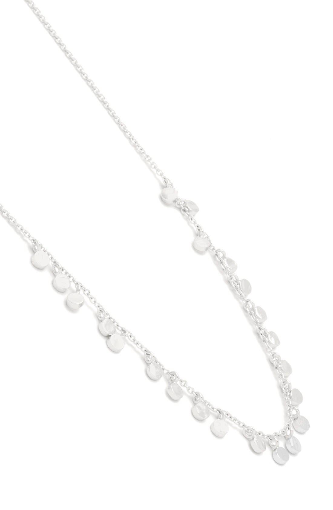 'Chloe' Mini Strand Necklace,                             Alternate thumbnail 2, color,                             SILVER