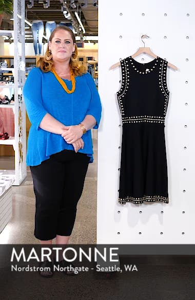 Studded Fit & Flare Dress, sales video thumbnail