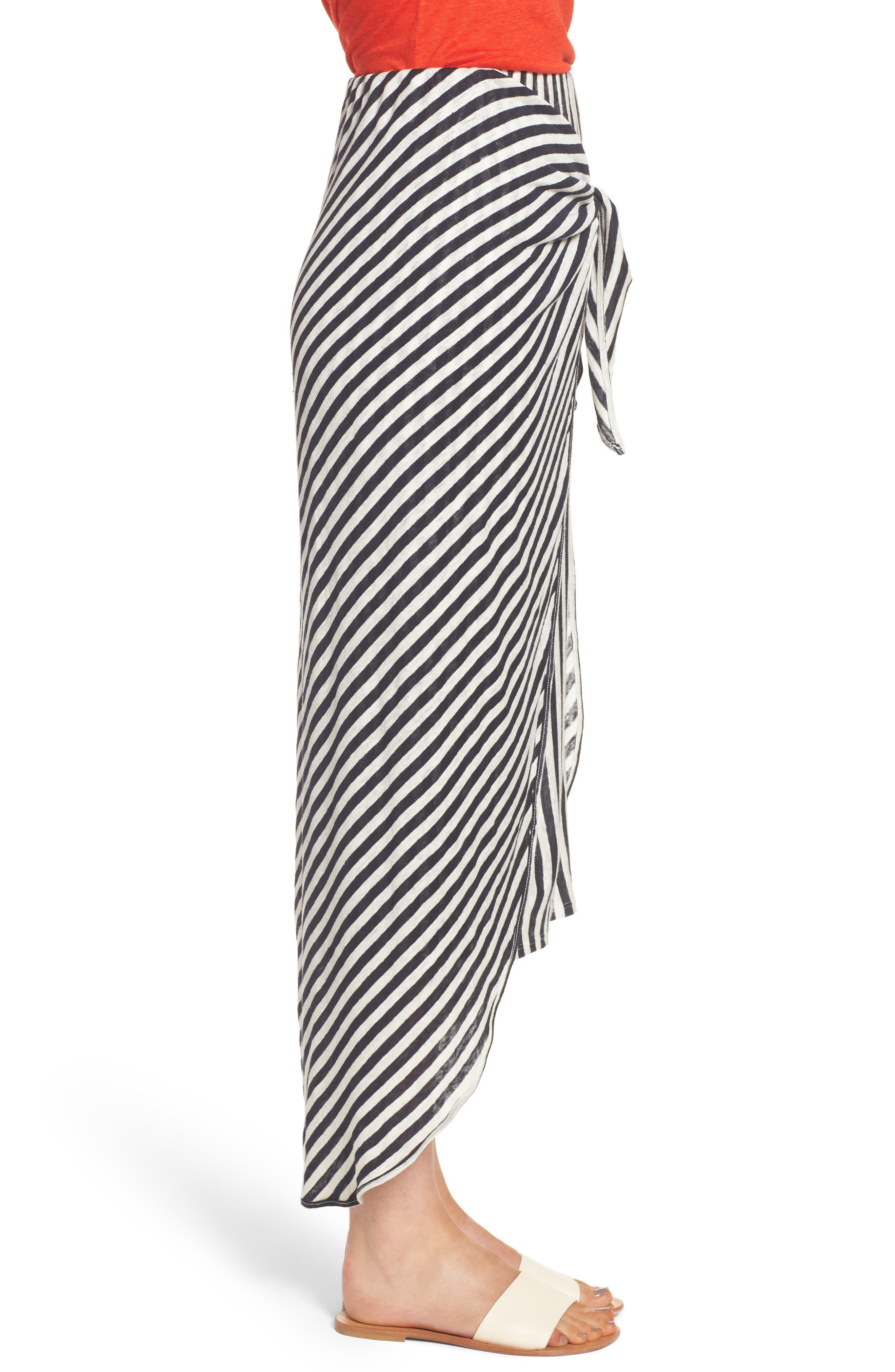x Margherita Isola Stripe Sarong Skirt,                             Alternate thumbnail 3, color,                             461