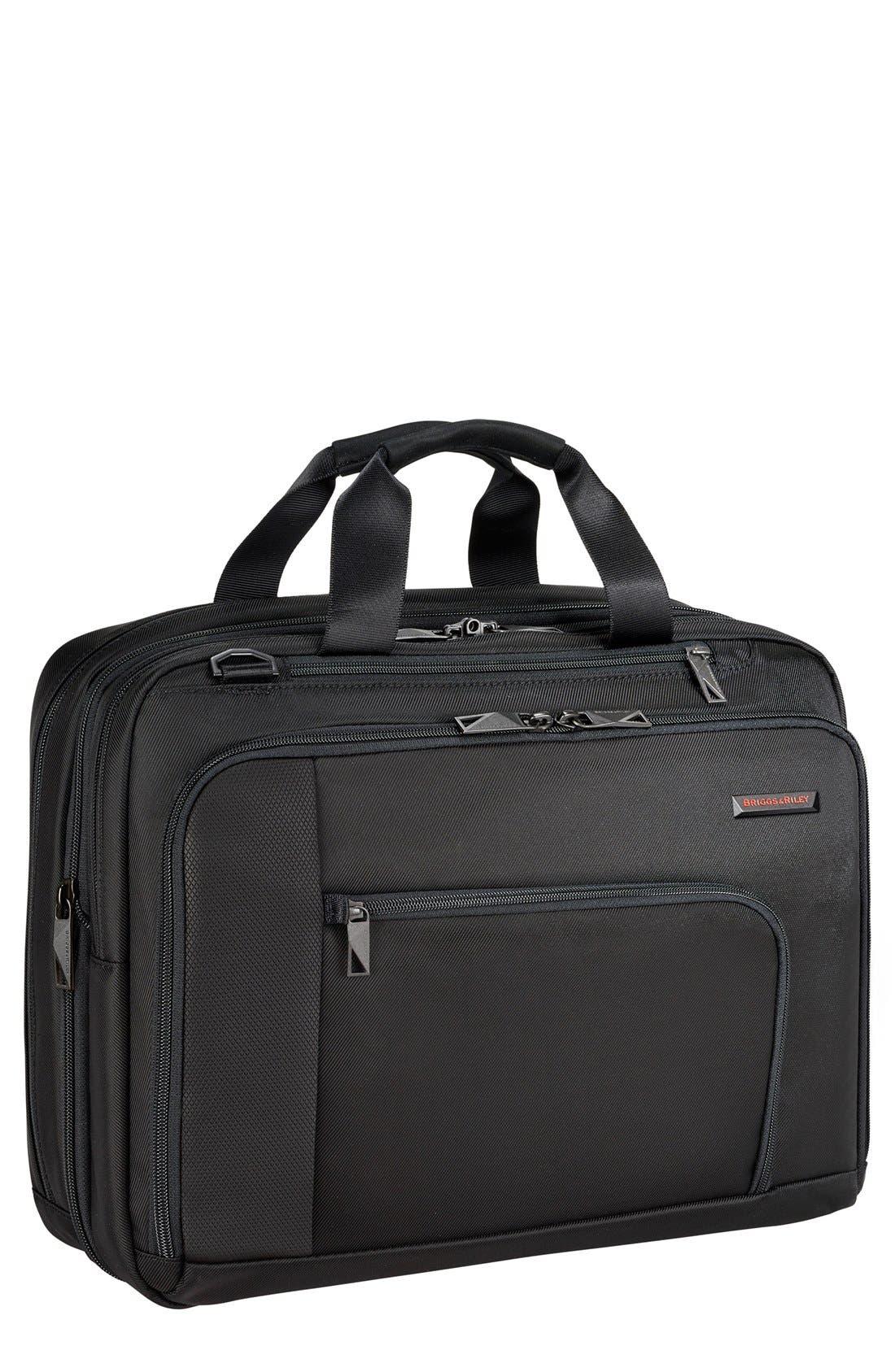 Verb - Adapt Expandable Briefcase,                         Main,                         color, BLACK