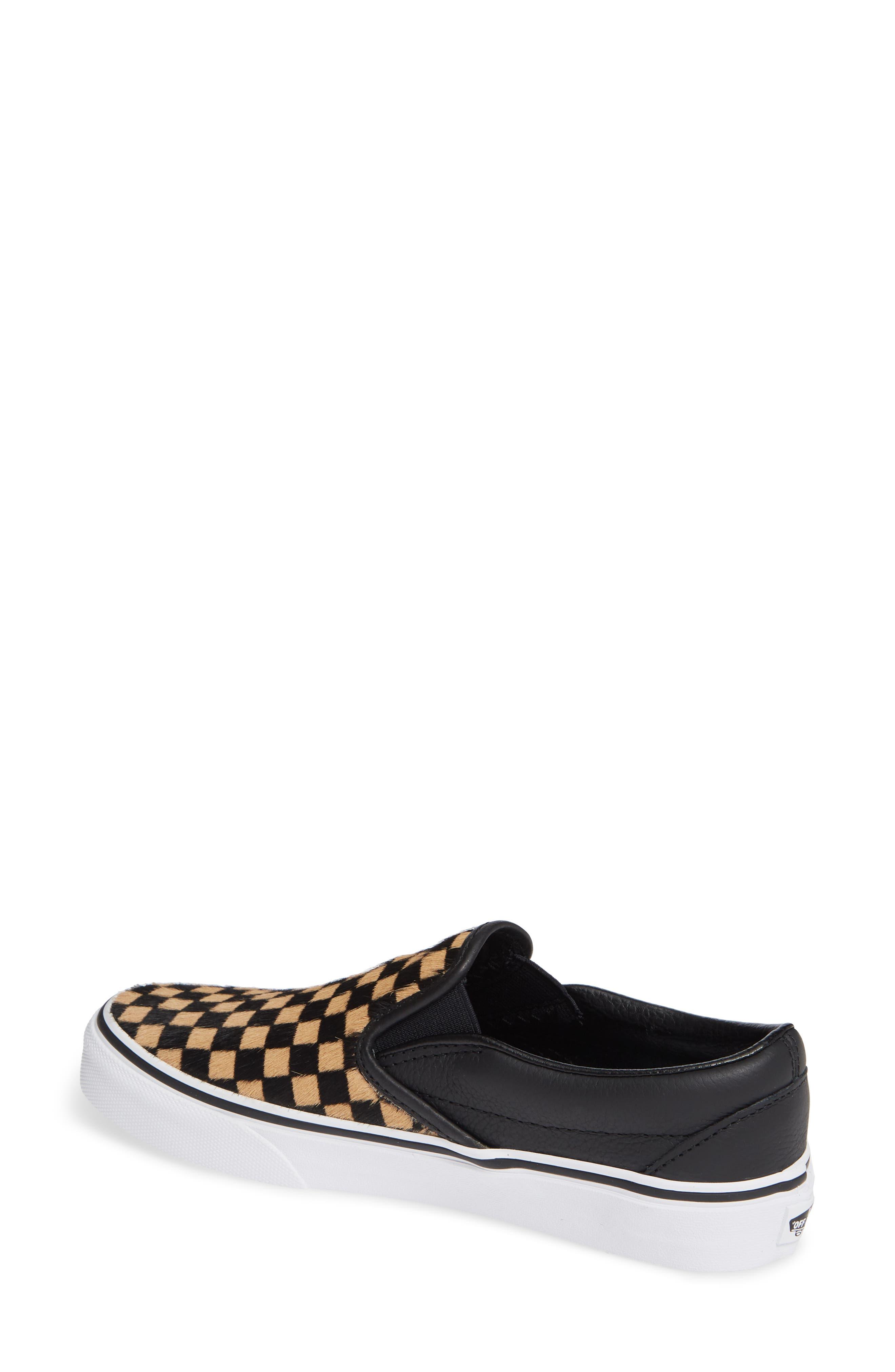 VANS,                             UA Classic Genuine Calf Hair Slip-On Sneaker,                             Alternate thumbnail 2, color,                             001