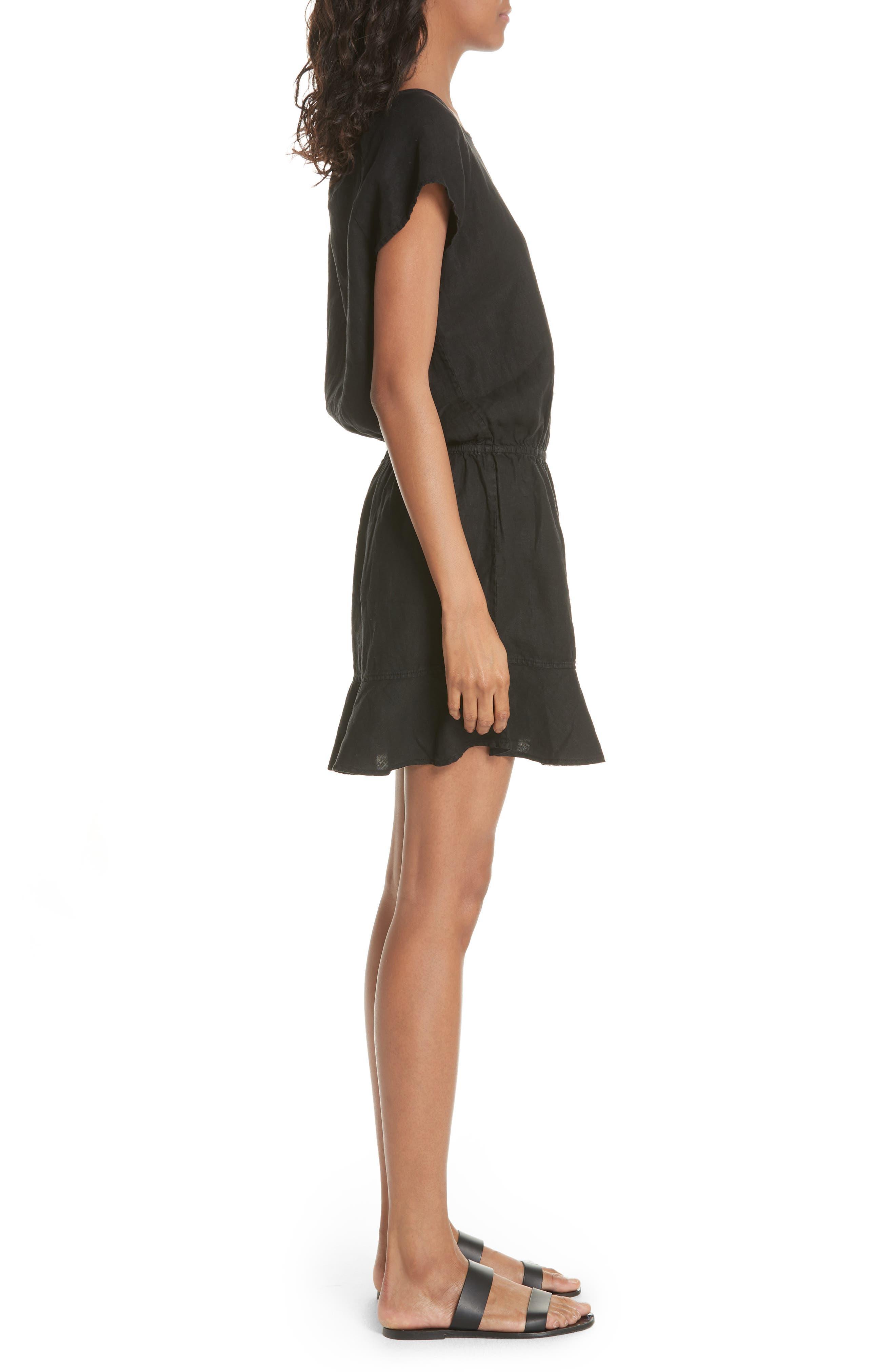 Quora Ruffle Linen Dress,                             Alternate thumbnail 5, color,