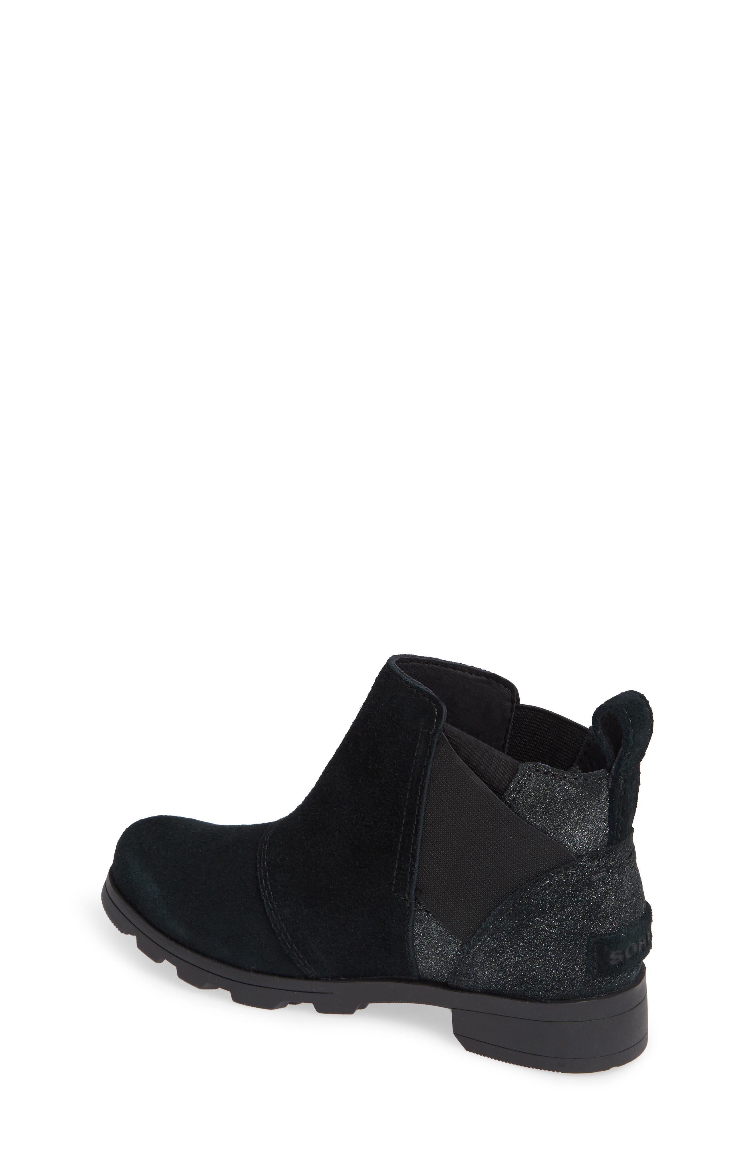 Emelie Waterproof Chelsea Boot,                             Alternate thumbnail 2, color,                             BLACK